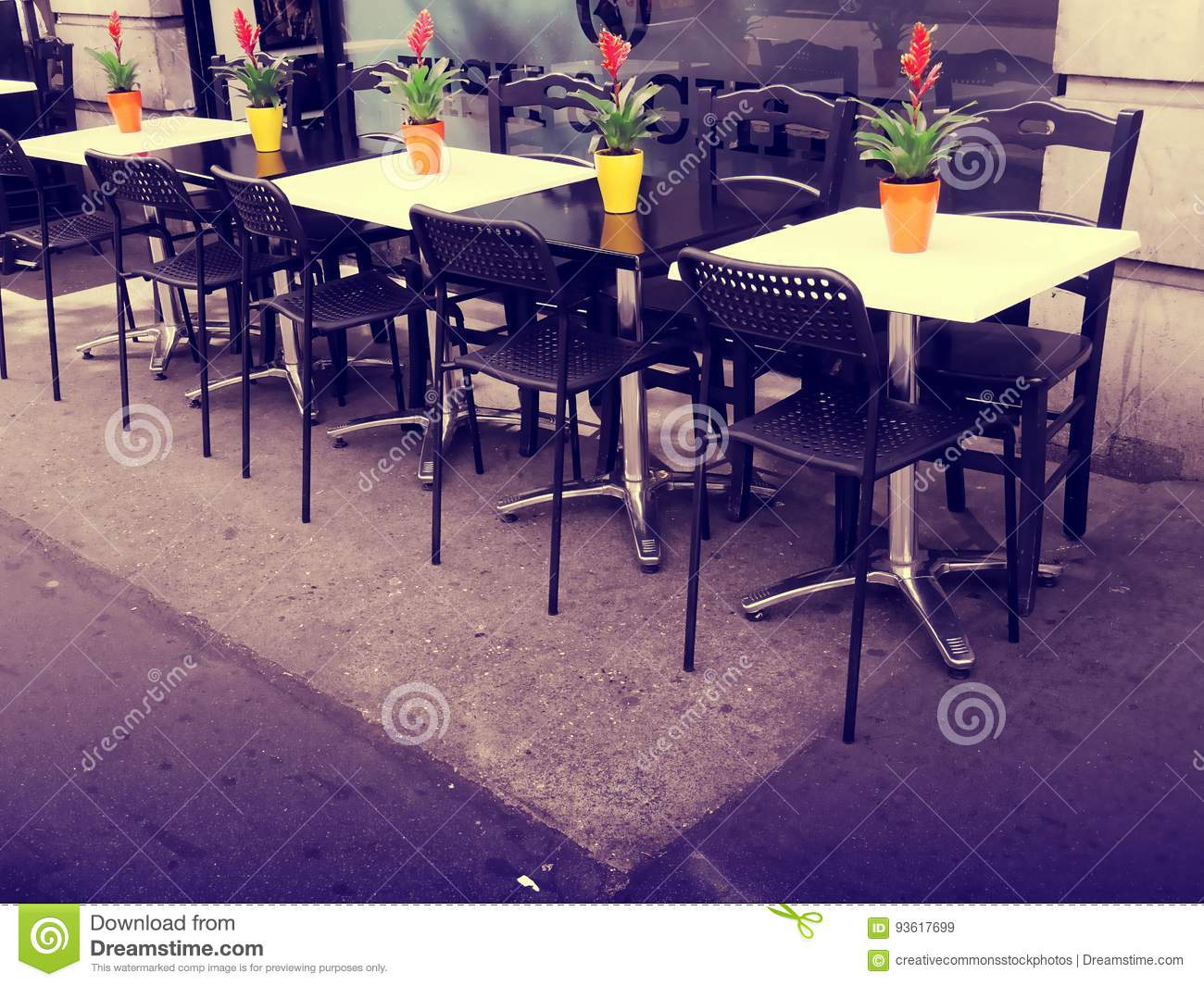Outdoor Tables In Cafe Public Domain Image Outdoor Tables In Cafe Free Public Domain