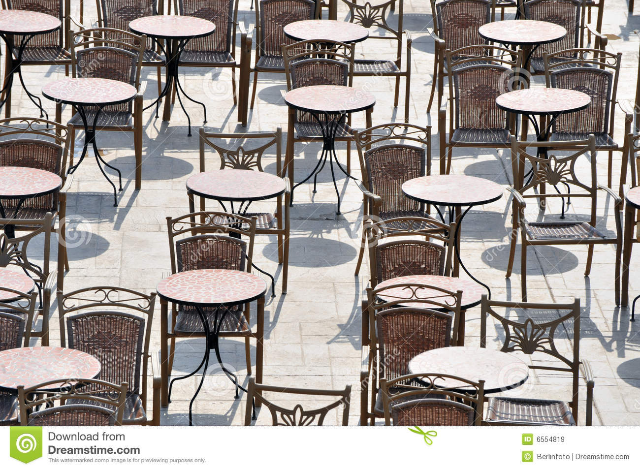 Outdoor tables and chairs stock image image of restaurant for Outside table chairs
