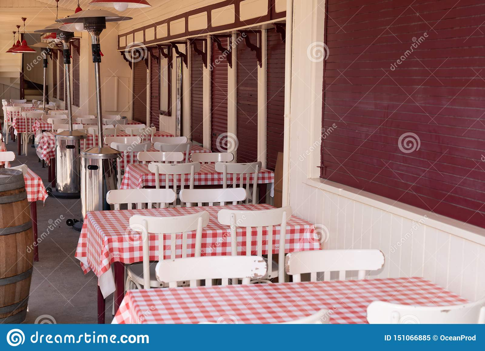 Outdoor Terrace Summer Bar Restaurant In Herbe Village In Arcachon Bay In France Stock Image Image Of Oystering Europa 151066885