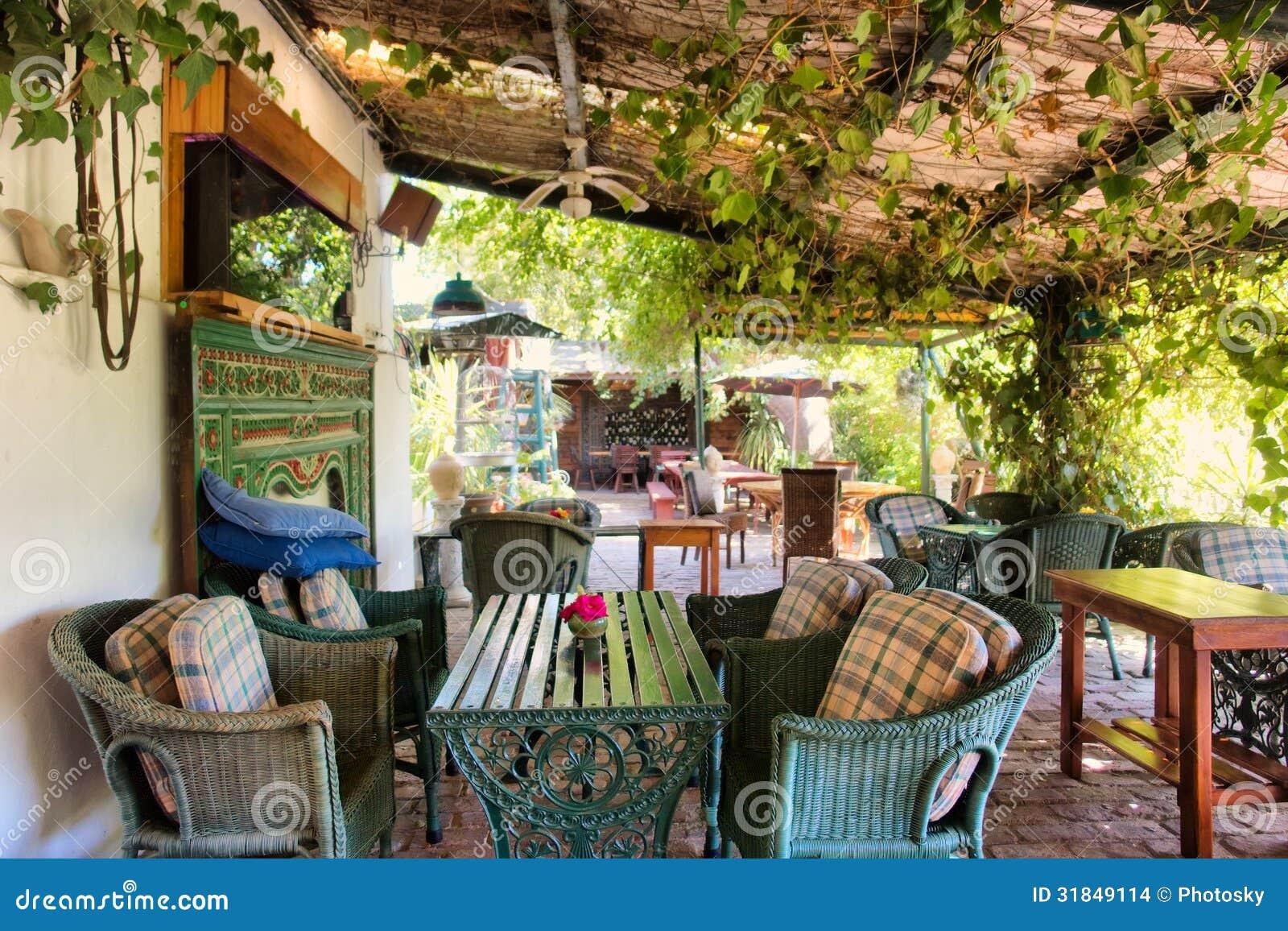 Outdoor Thai restaurant