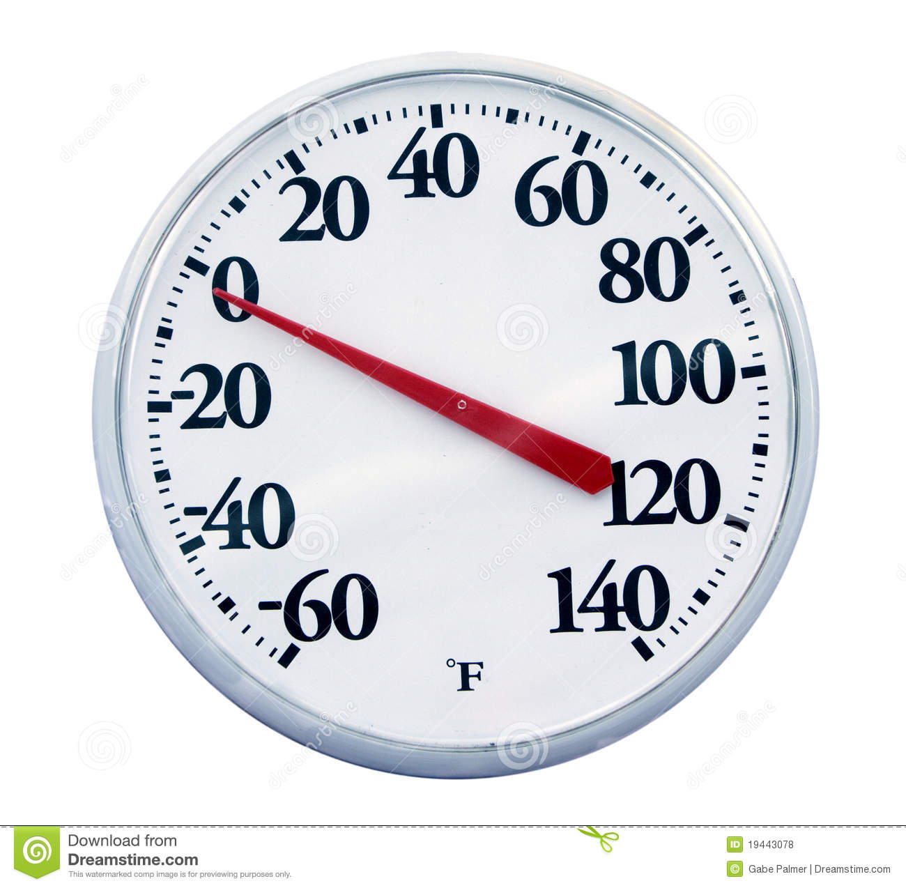 Outdoor thermometer isolated stock photo image 19443078 for Thermometres exterieurs