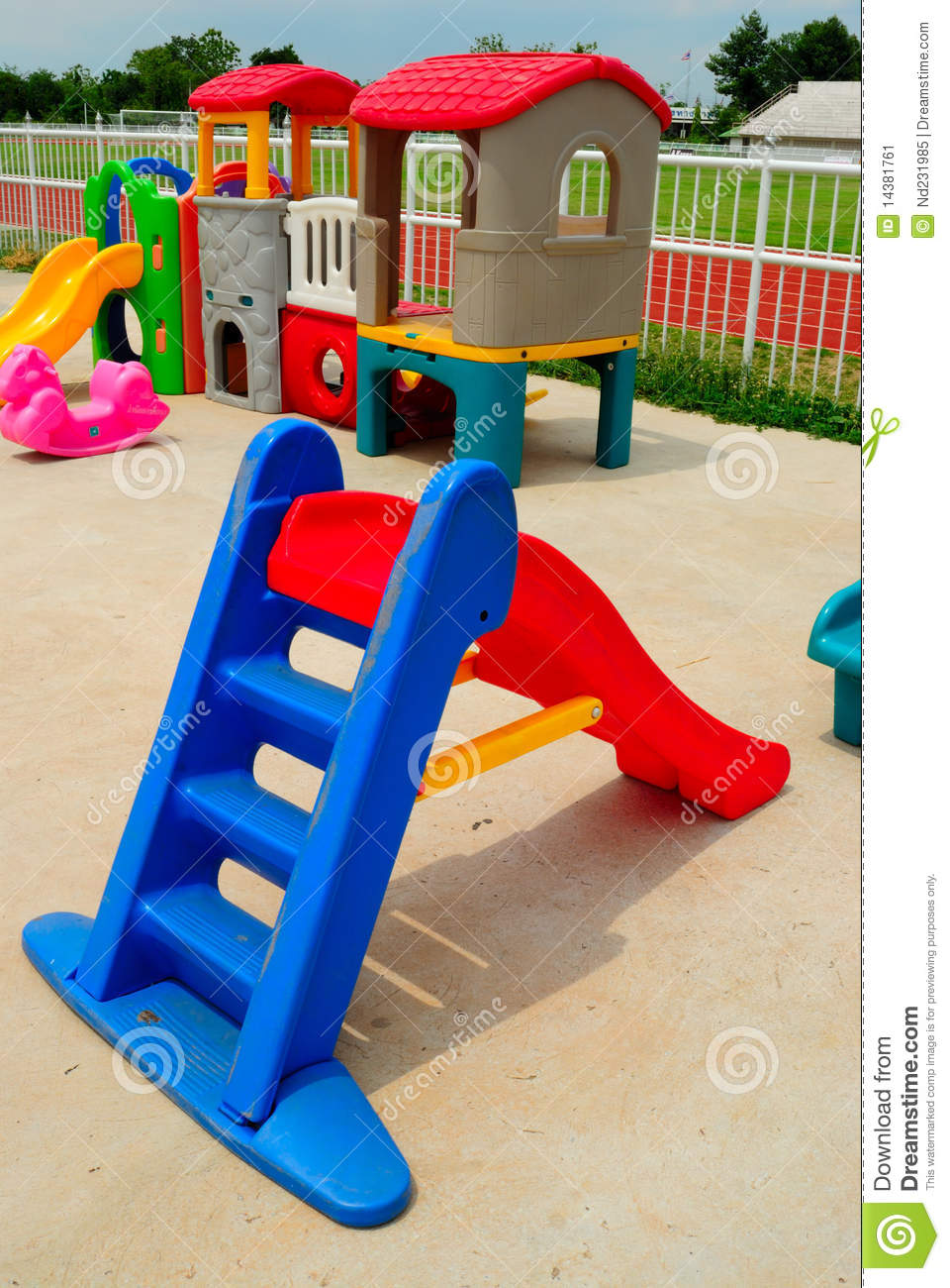 Outdoor Toys For Toddlers And Preschoolers : Outdoor toys for children stock image of