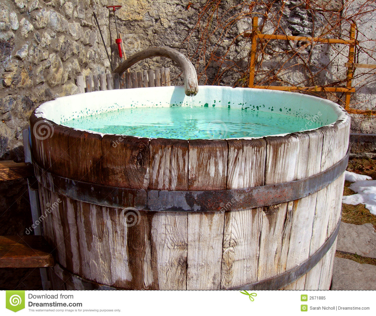 Captivating Royalty Free Stock Photo. Download Outdoor Tub ...