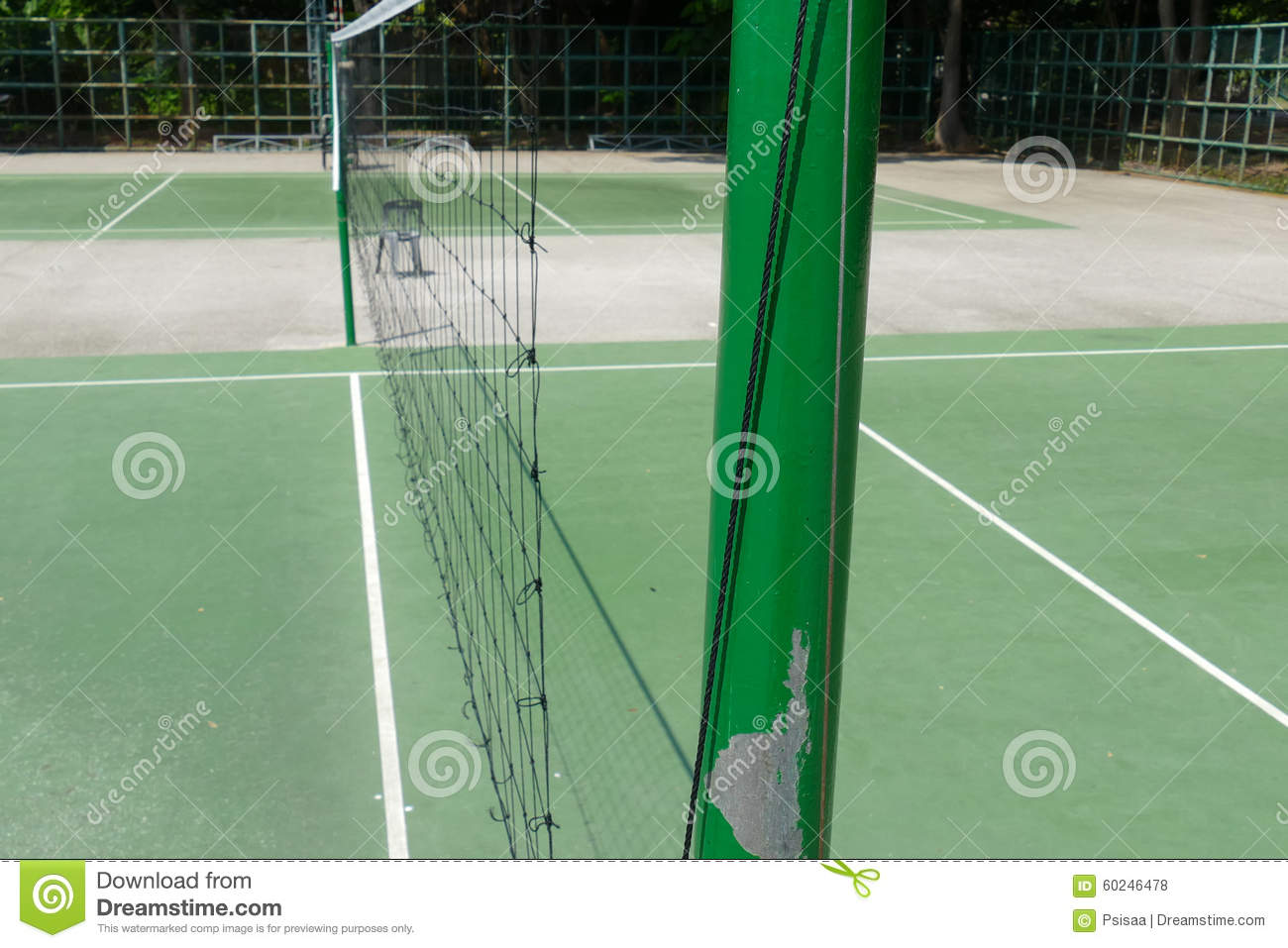 outdoor volleyball court stock photo image 60246478