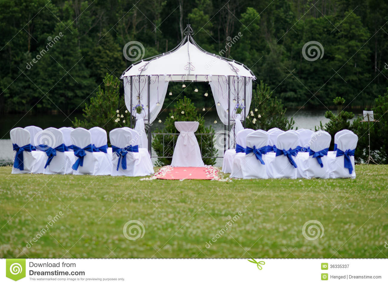 outdoor wedding place stock image image of arch wedding 36335337. Black Bedroom Furniture Sets. Home Design Ideas