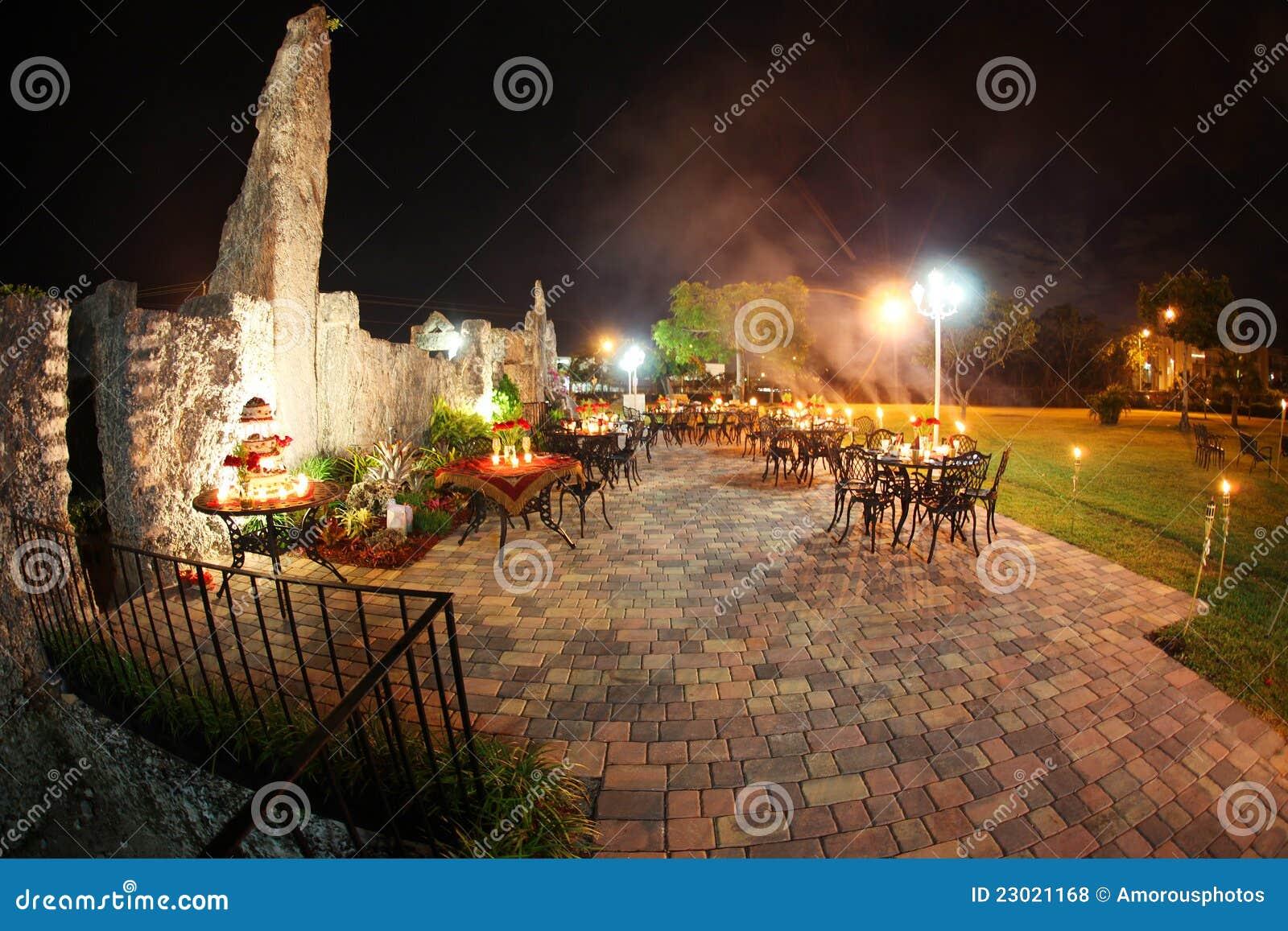 Outdoor Wedding Reception Stock Photo Image Of Castle