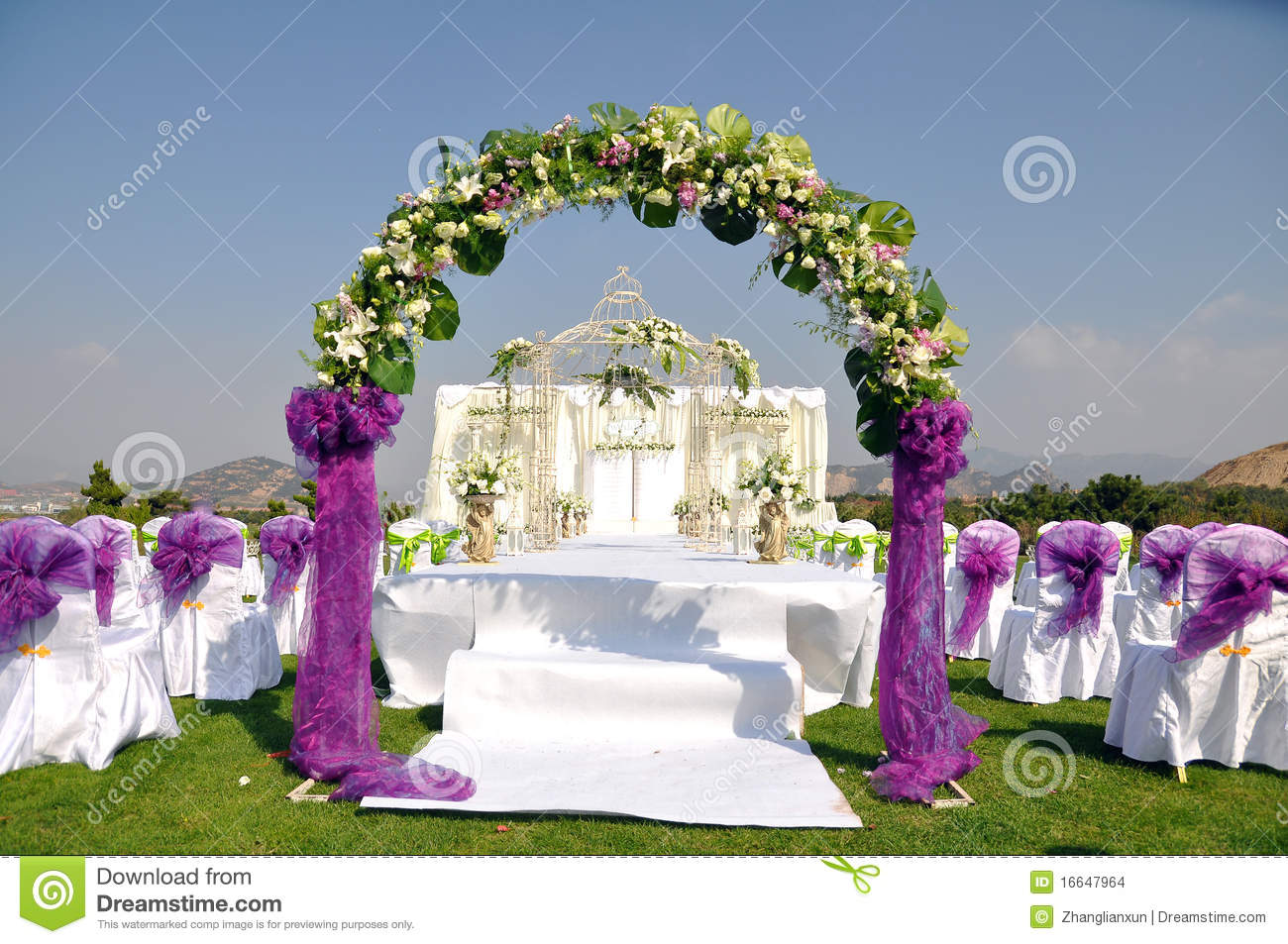 Outdoor wedding scene stock photo. Image of ritual, family   16647964
