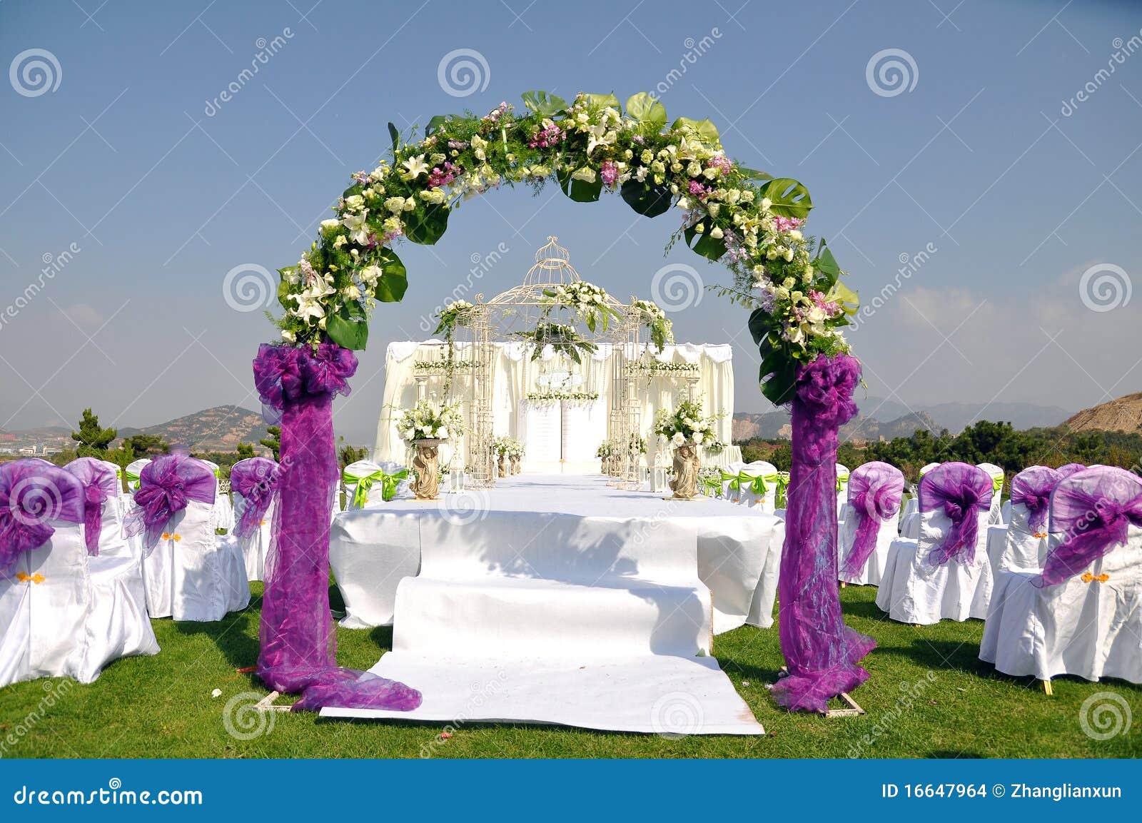 Outdoor Wedding Scene Stock Images Image 16647964