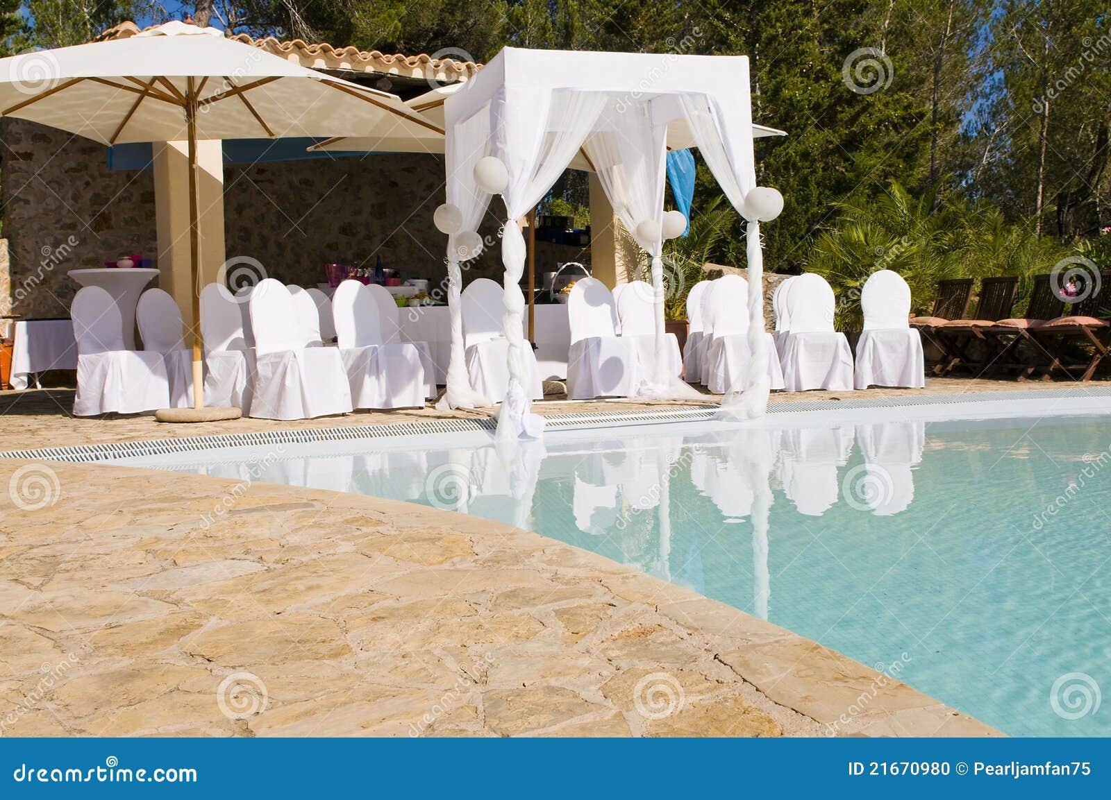 Outdoor Wedding Scene Stock Photo Image Of Luxury
