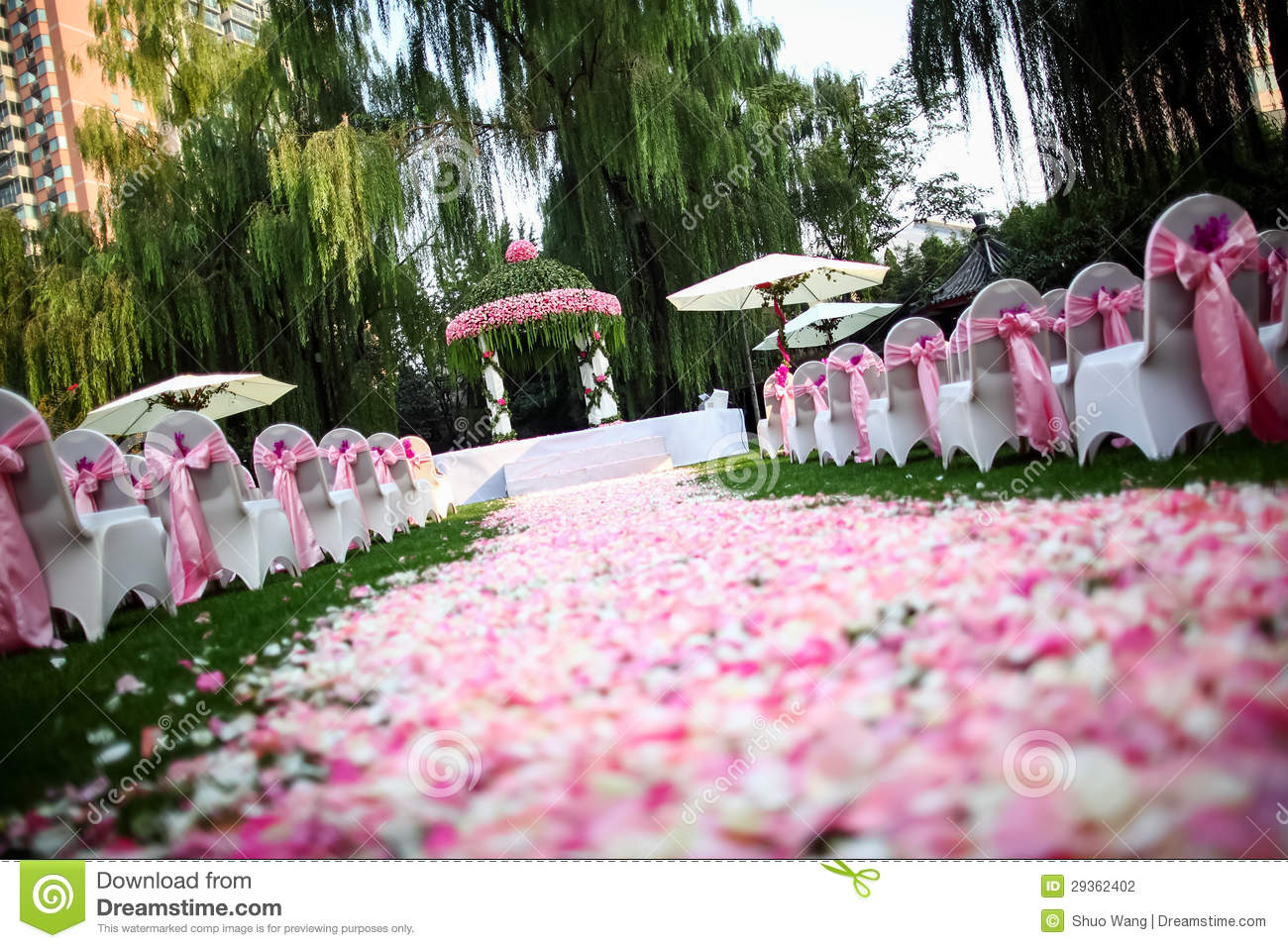 Outdoor Wedding Scene Stock Photo Image Of Gloriette