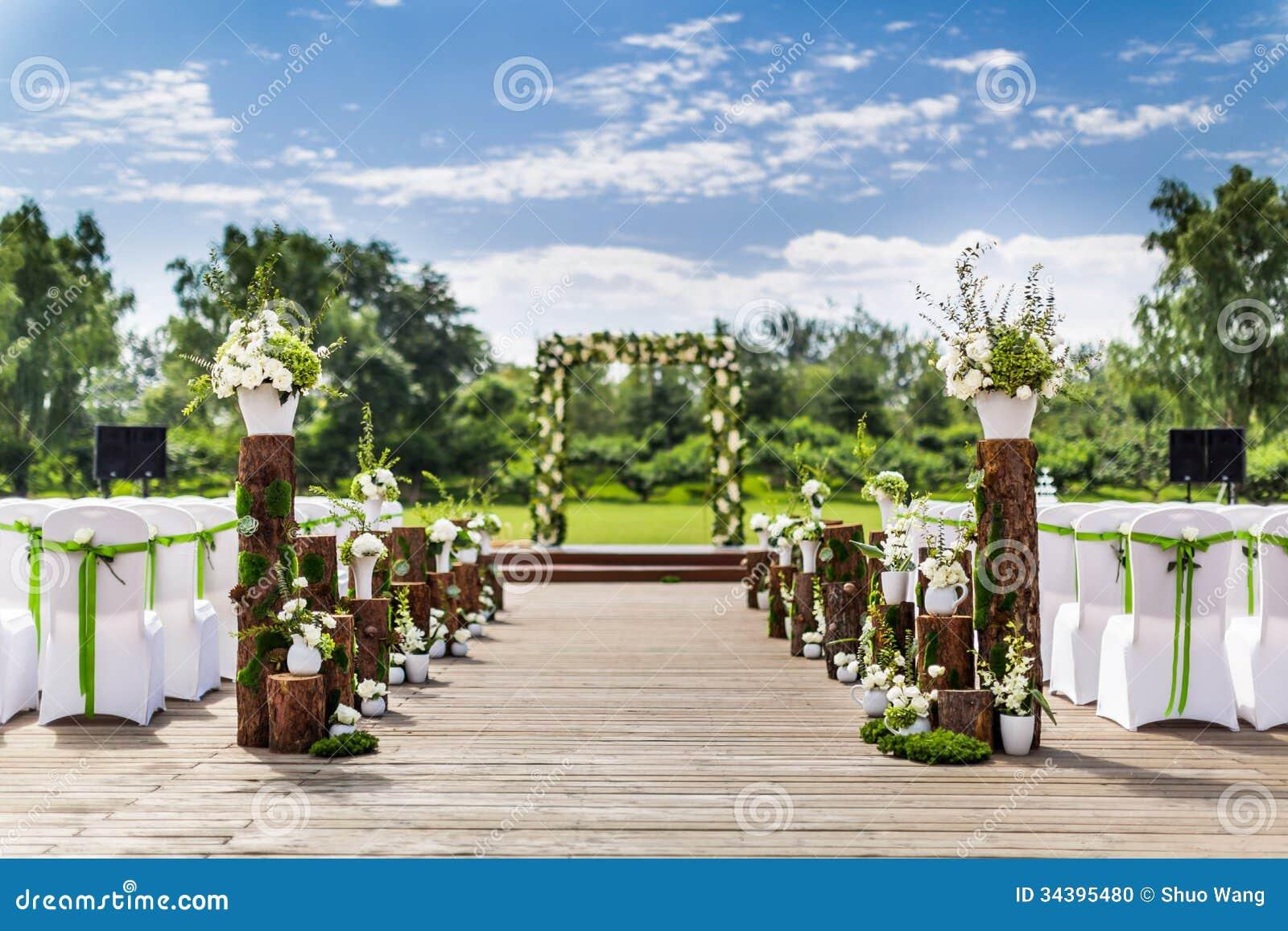Outdoor Wedding Scene Stock Photo Image 34395480