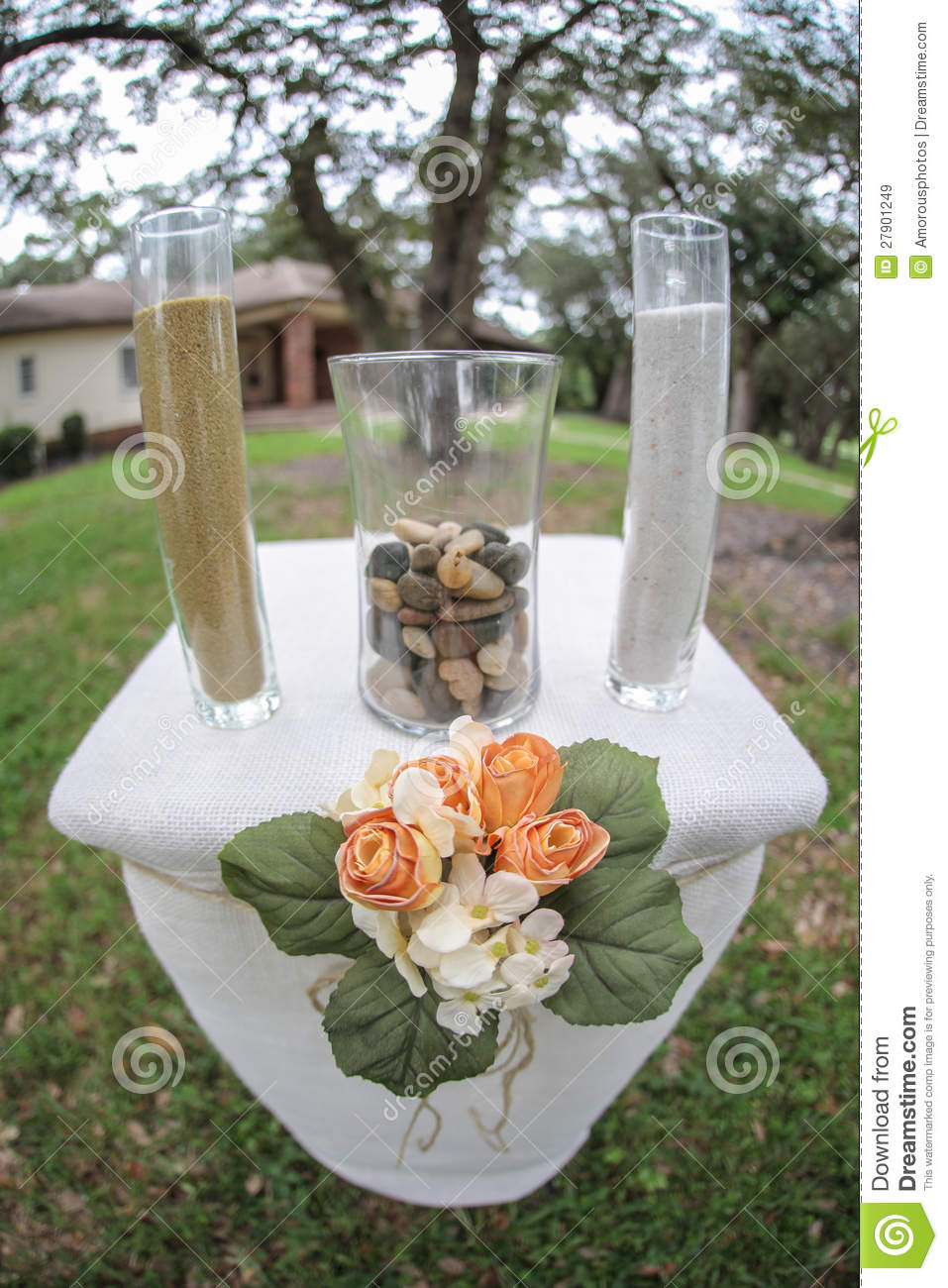 Outdoor Wedding Table Altar Royalty Free Stock Images - Image ...