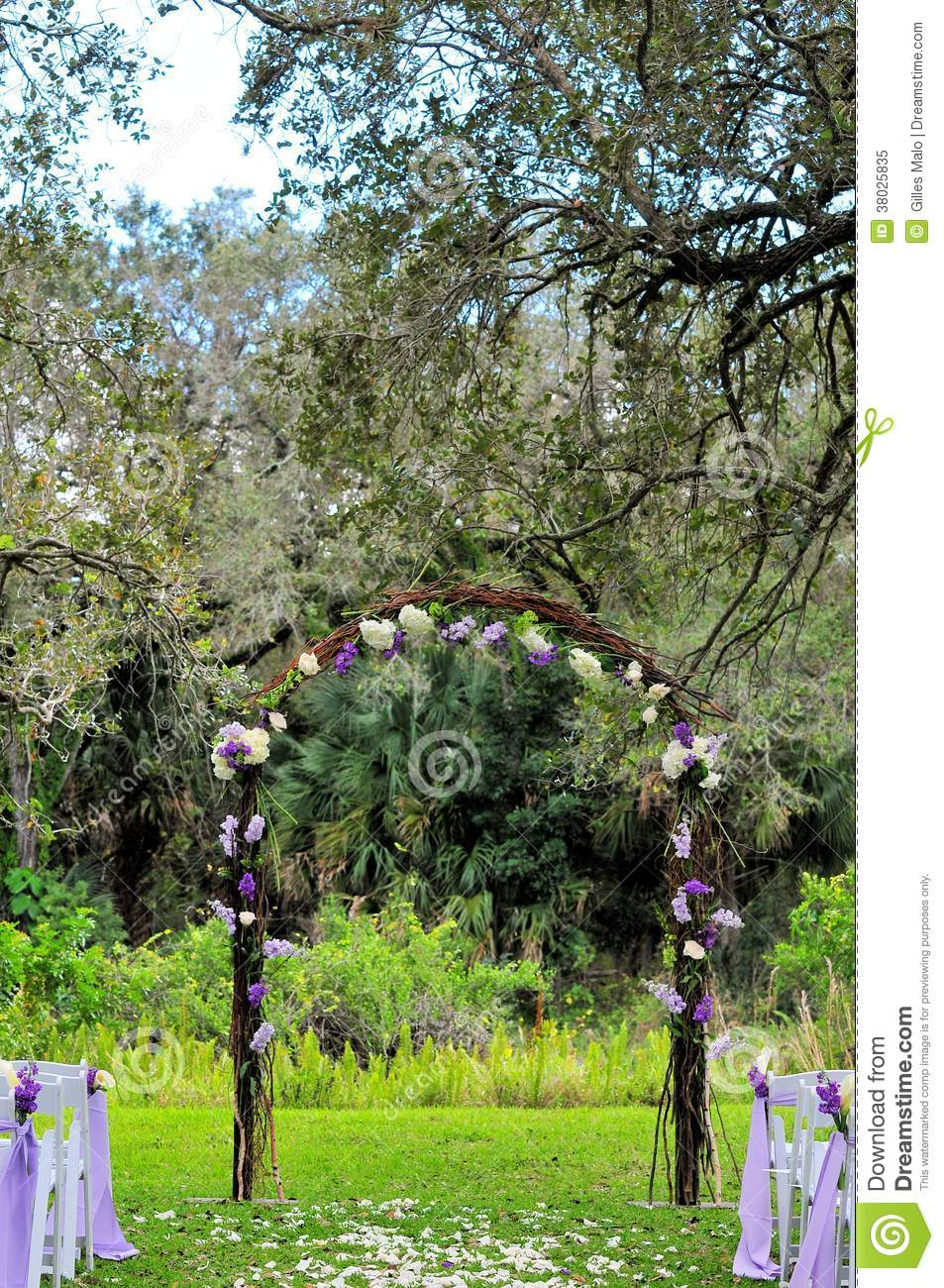 Outdoor Wedding Venue In Florida Stock Image - Image of decorations ...