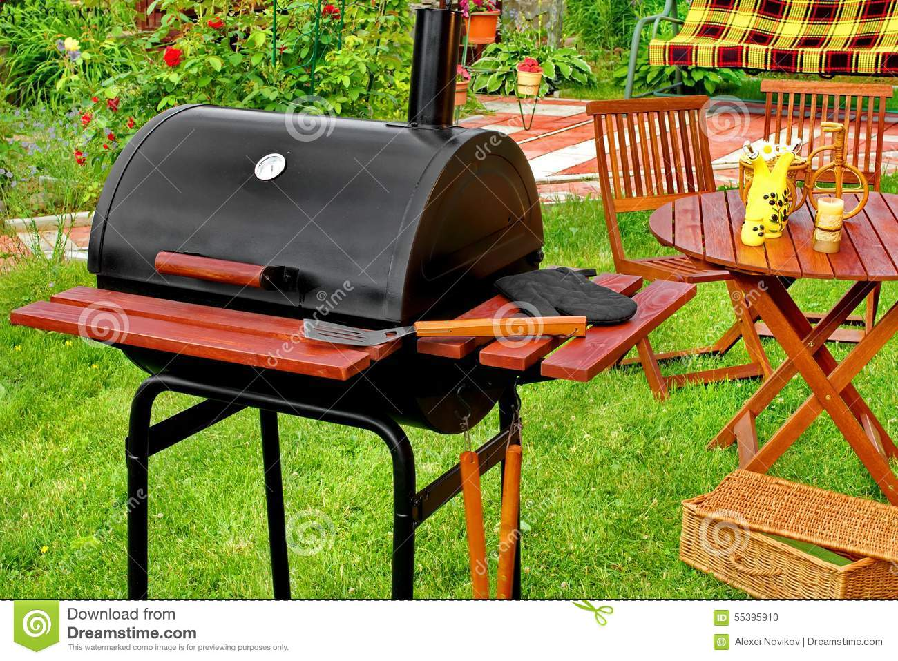 Outdoor Weekend Bbq Grill Party Or Picnic Concept Stock