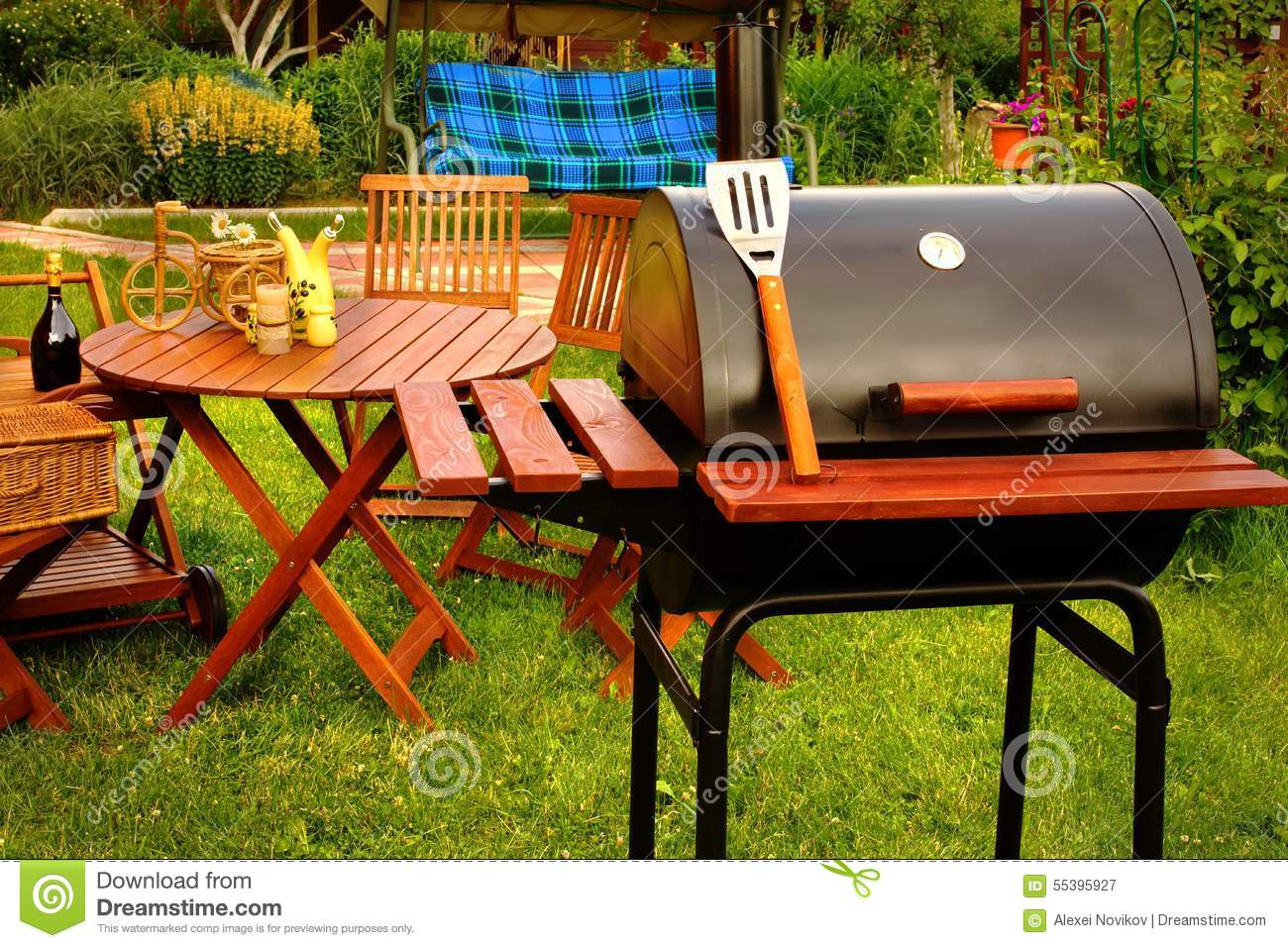 Outdoor Weekend BBQ Grill Party Or Picnic Concept Stock ...