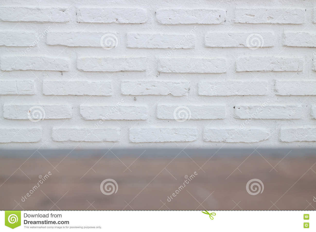 Outdoor White Brick Wall Texture