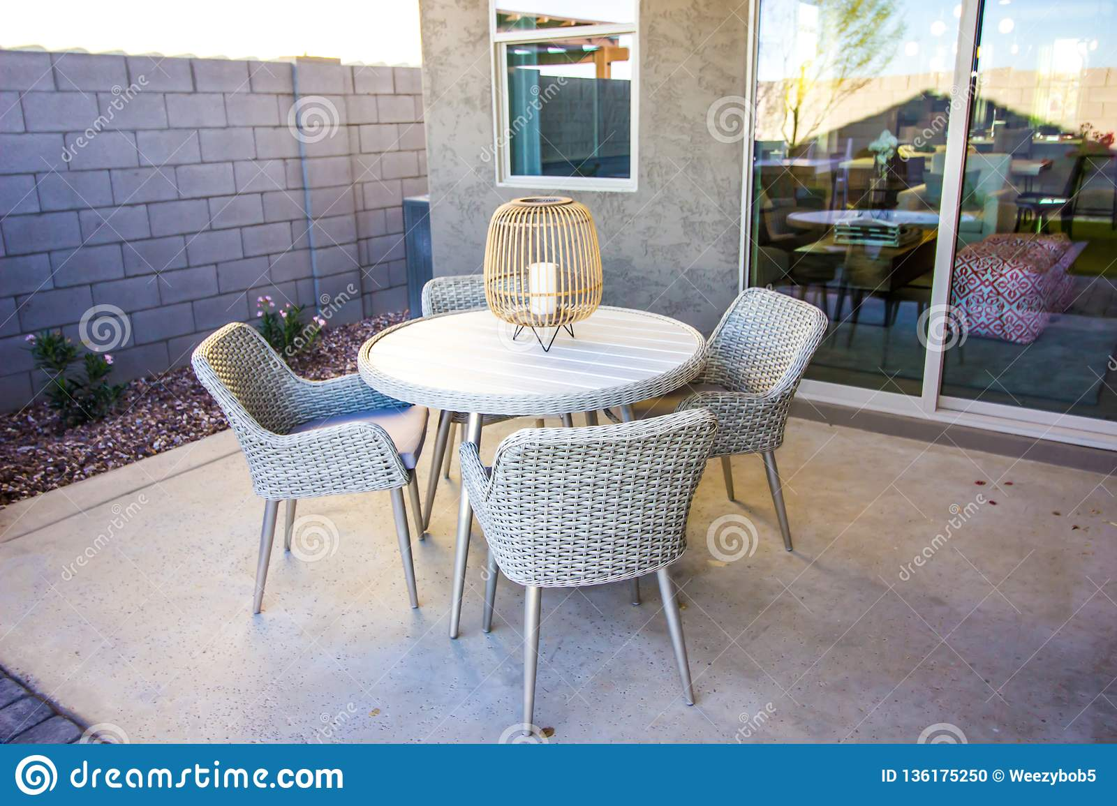 Remarkable Outdoor White Patio Wicker Furniture Stock Photo Image Of Caraccident5 Cool Chair Designs And Ideas Caraccident5Info