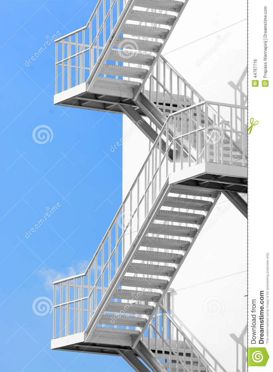 Outdoor White Steel Stair Stock Photo Image 44767716
