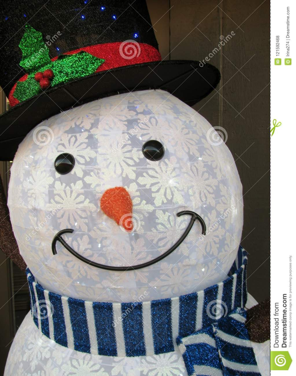 outdoor wire frame frosted snowman