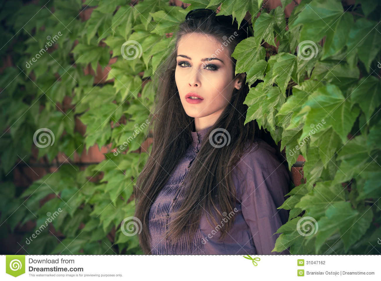 Outdoor Woman Portrait Stock Photo Image Of