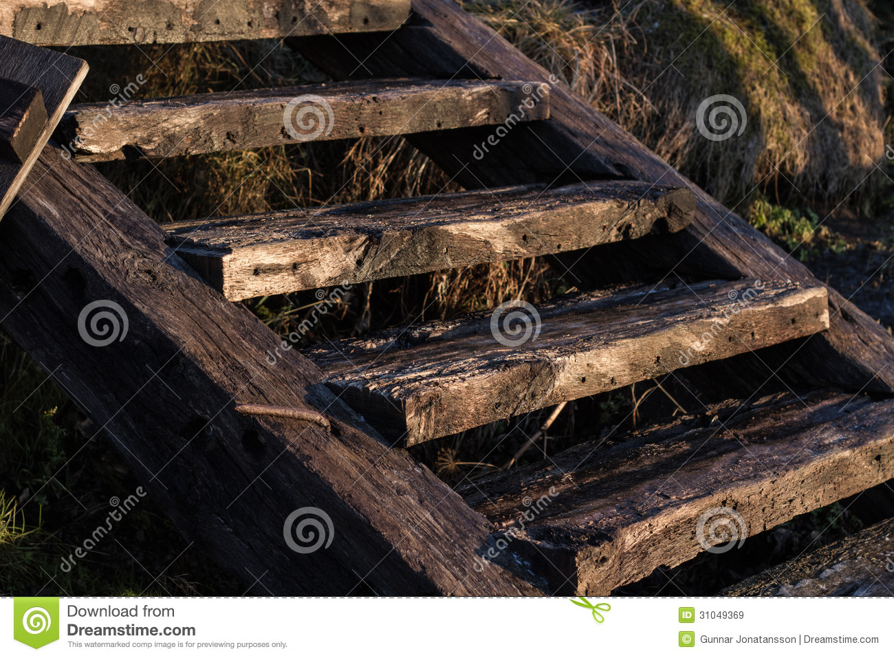 Royalty Free Stock Photo. Download Outdoor Wooden Stairs ...
