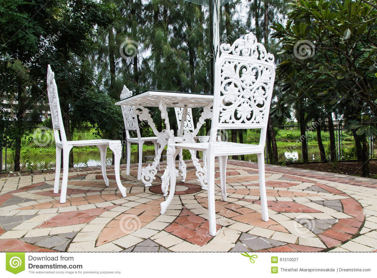 outdoors patio with furniture stock image image 61510027