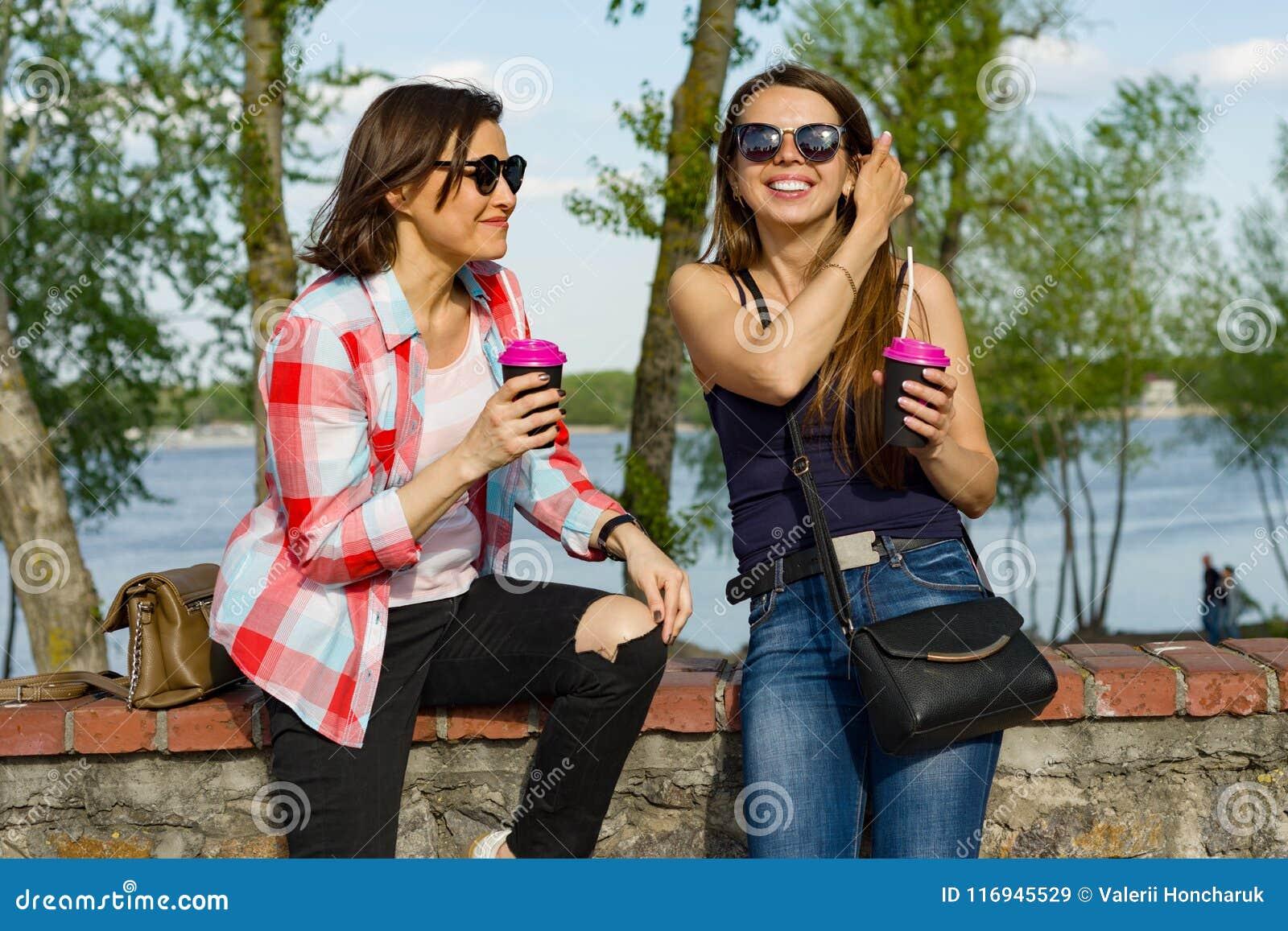Mature lesbians having fun