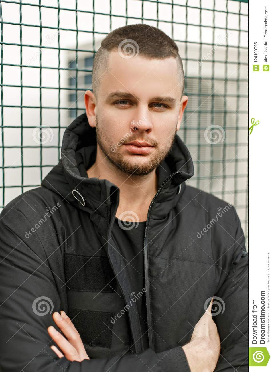 Pleasing Outdoors Portrait Of A Young Model Of A Man Stock Image Image Of Schematic Wiring Diagrams Amerangerunnerswayorg