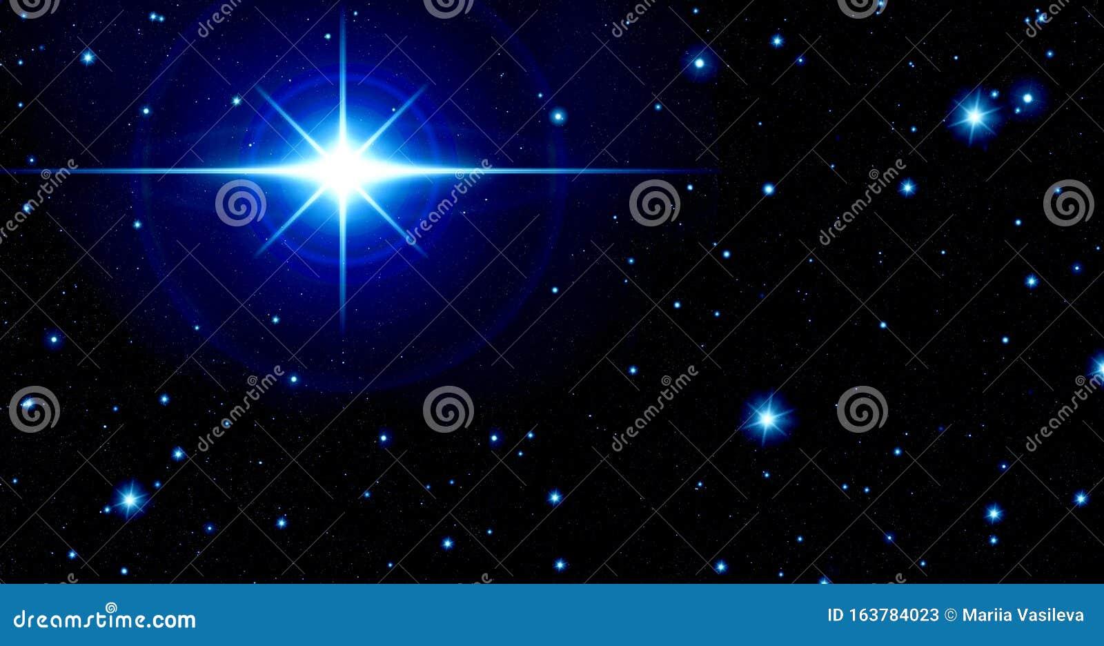 Outer Space Many Stars Glitter Star Bright Blue Star Night Sky Universe Glow Blue Black Stock Illustration Illustration Of Galaxy Blue 163784023