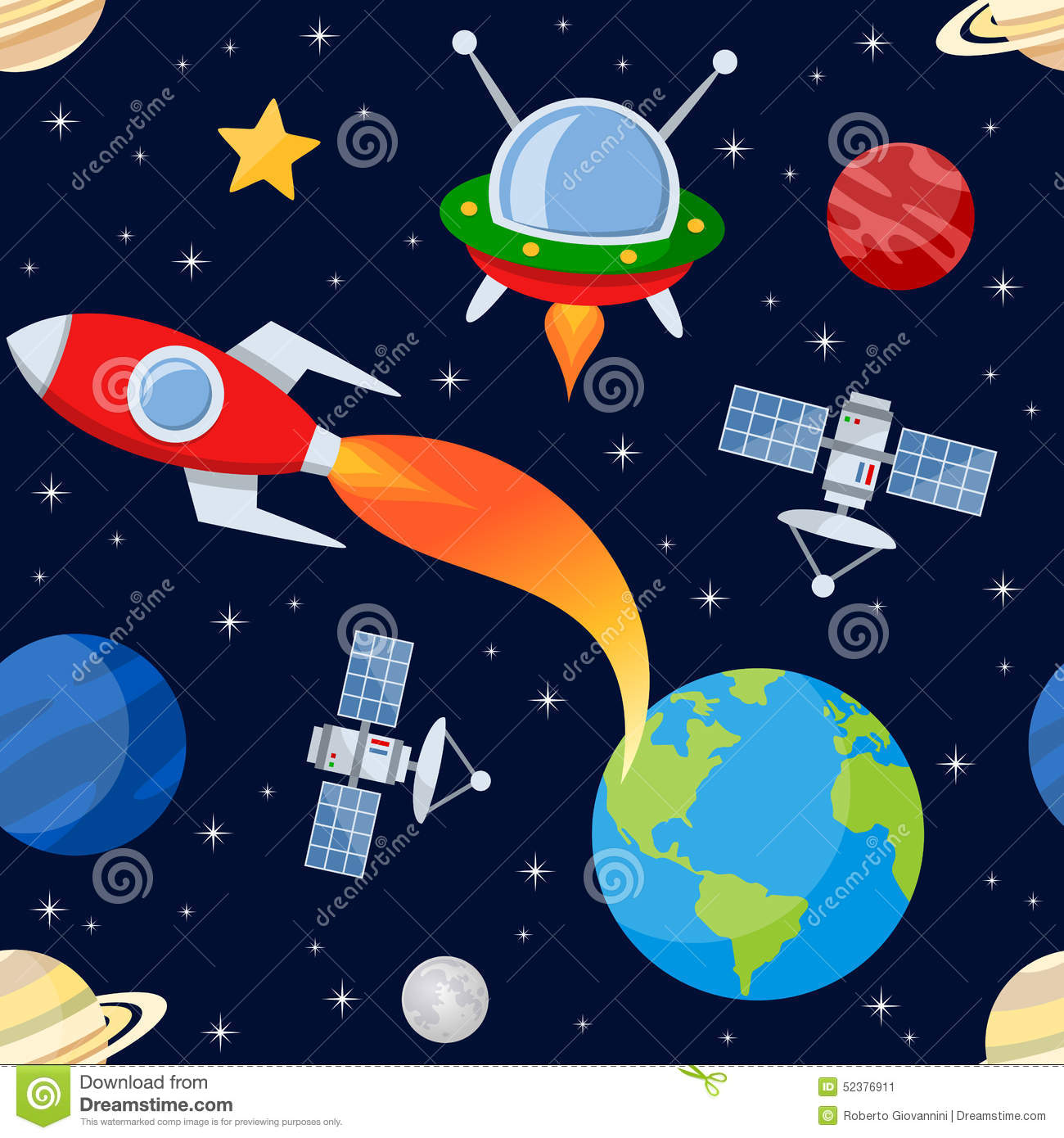 Outer space seamless pattern stock vector image 52376911 for Outer space pattern
