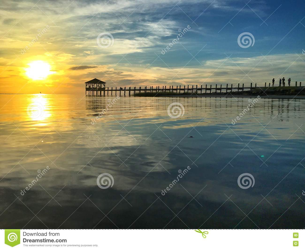 Outerbanks Pier Sunset