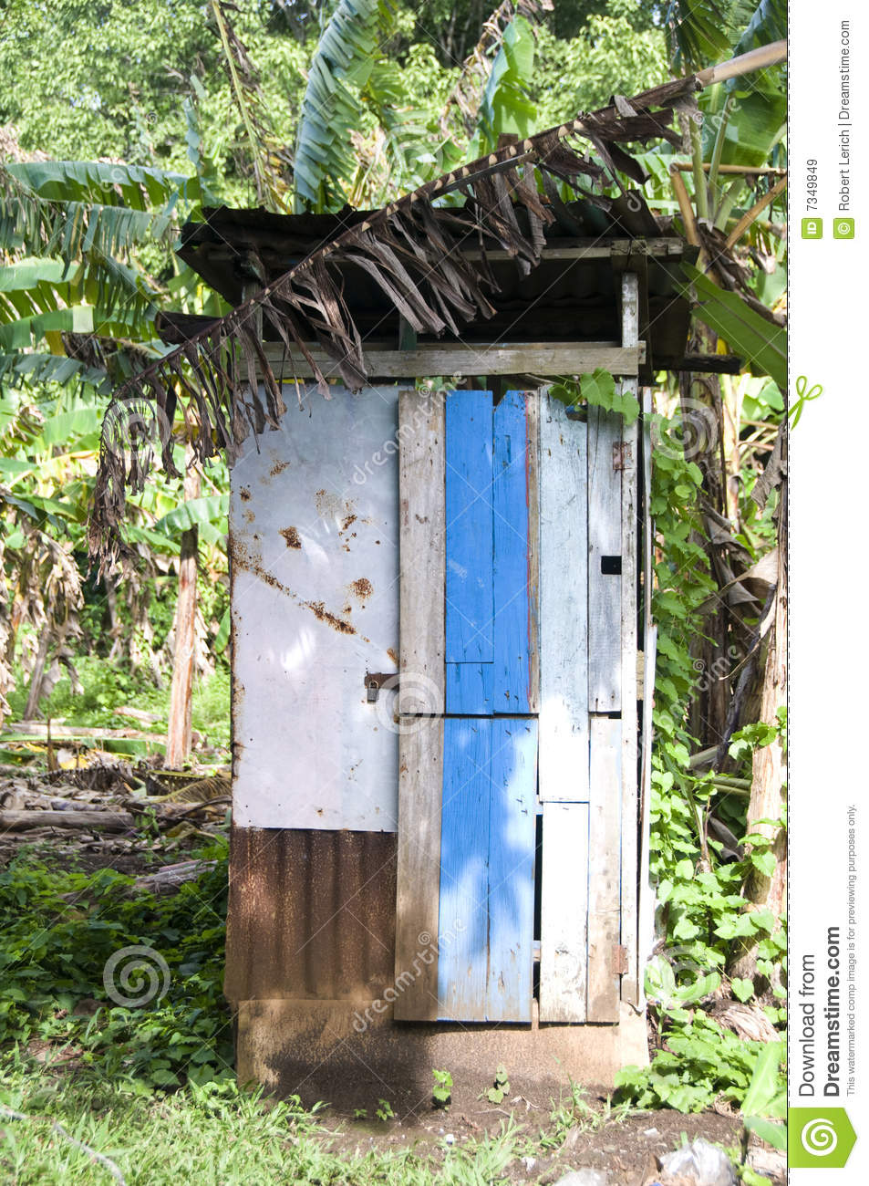 Outhouse Toilet Bathroom Zinc House Nicaragua Royalty Free Stock - Outhouse bathroom