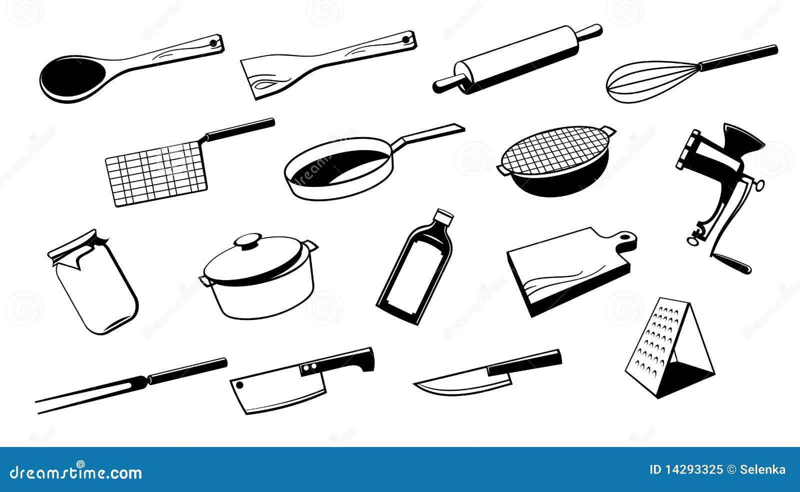 Outil d 39 ustensile de cuisine illustration de vecteur illustration du d ner c ramique 14293325 - Liste ustensiles de cuisine ...