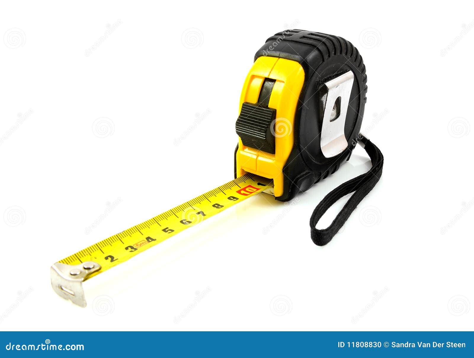 outil jaune de mesure photo stock image du centim tre. Black Bedroom Furniture Sets. Home Design Ideas