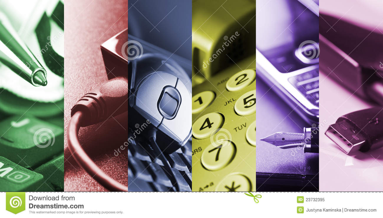 Outils d affaires - collage
