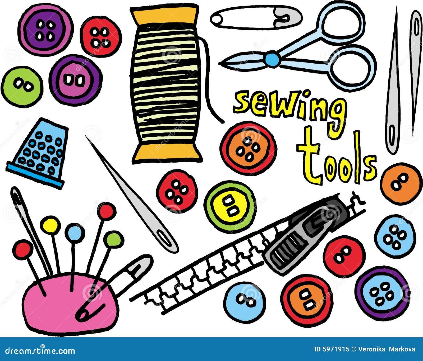 outils de couture illustration de vecteur illustration du boutons 5971915. Black Bedroom Furniture Sets. Home Design Ideas