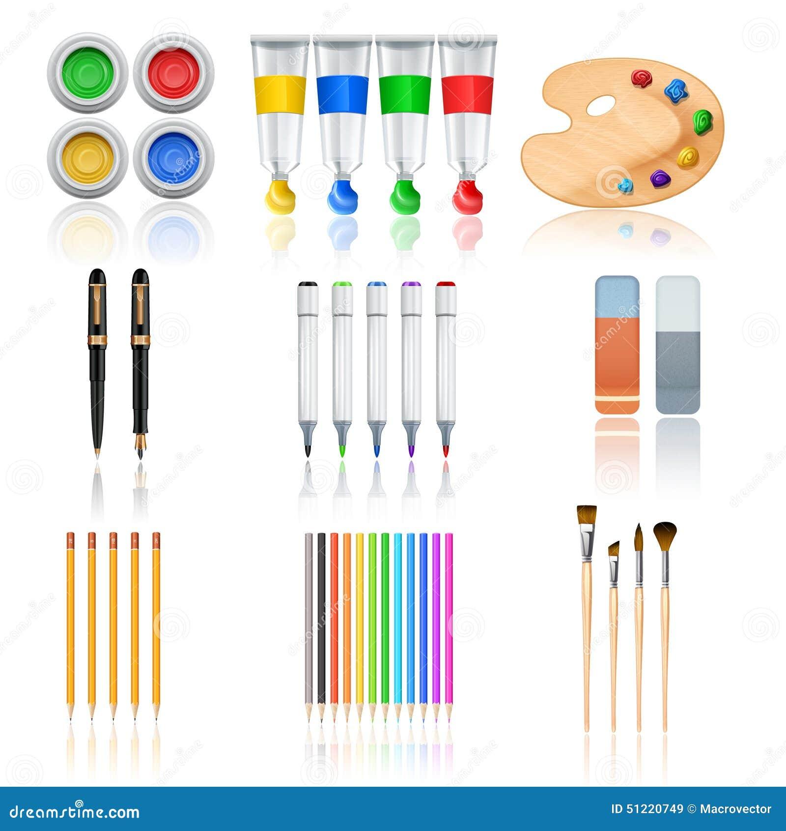 outils de dessin et de peinture illustration de vecteur image 51220749. Black Bedroom Furniture Sets. Home Design Ideas