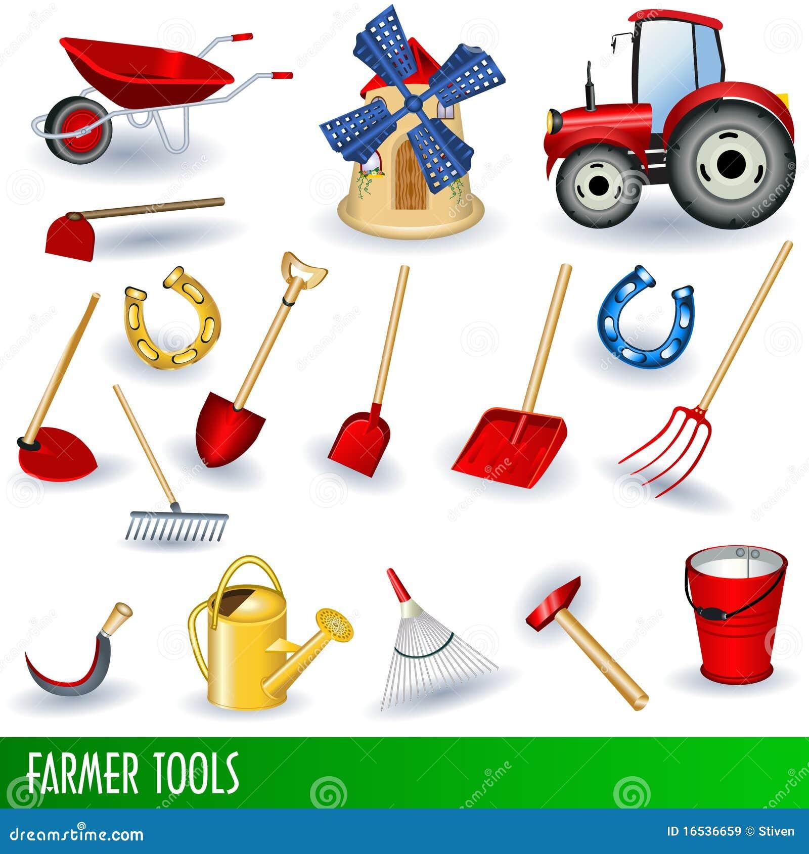 Outils de fermier illustration de vecteur image du for Herramientas de campo