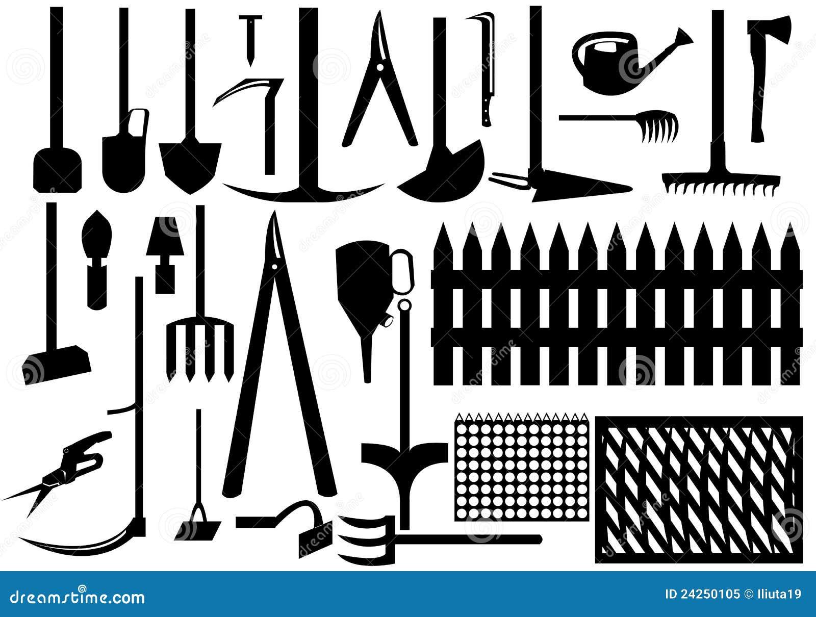 Outils de jardin photo libre de droits image 24250105 for Outil de conception jardin