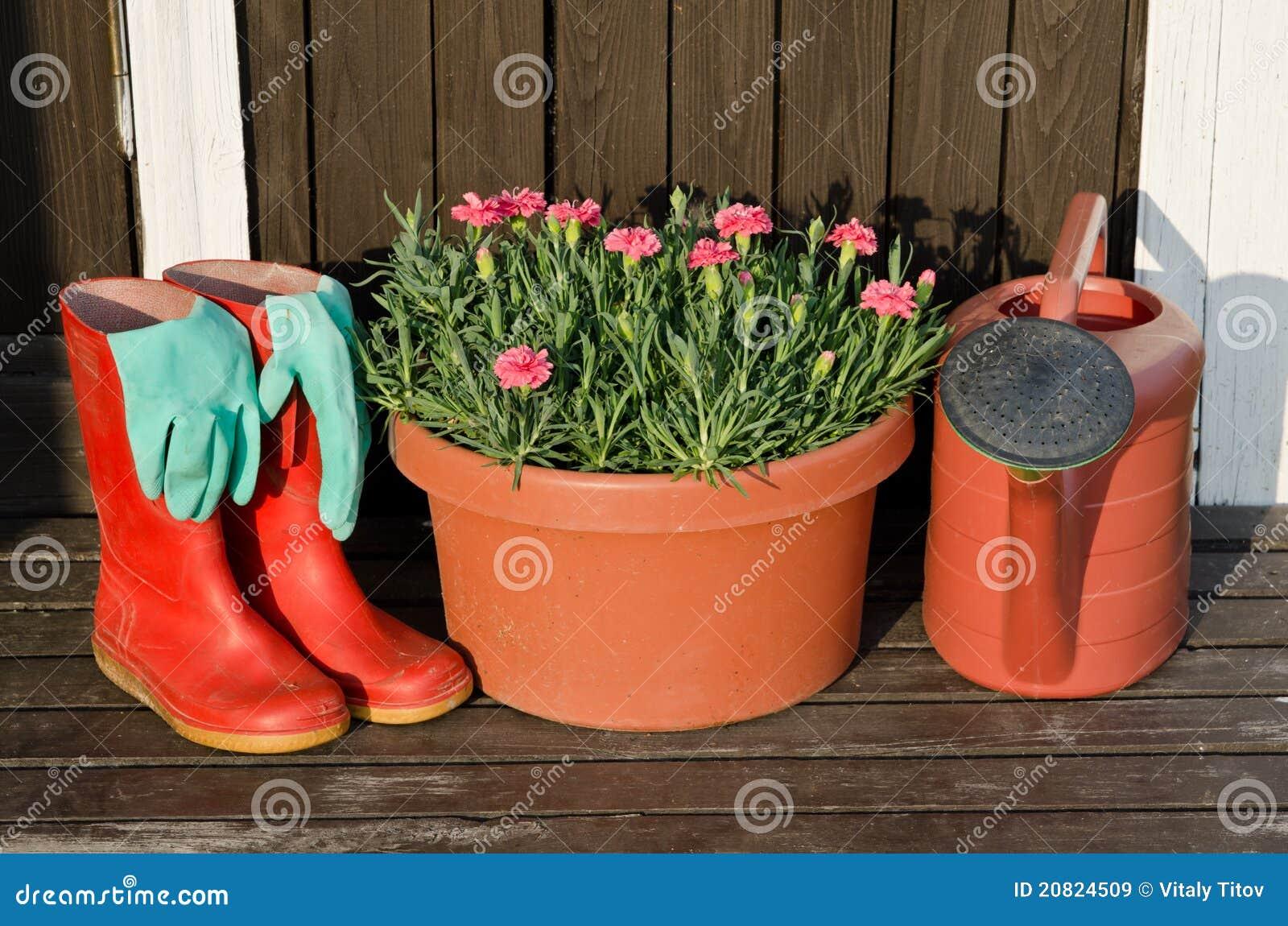 Outils De Jardin Bac De Fleur Bidon D Arrosage Gaines En