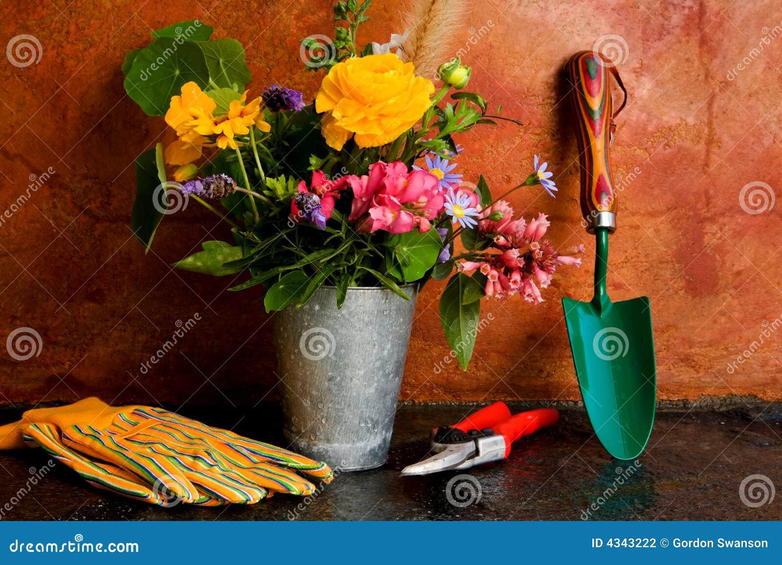 Outils de jardinage de source