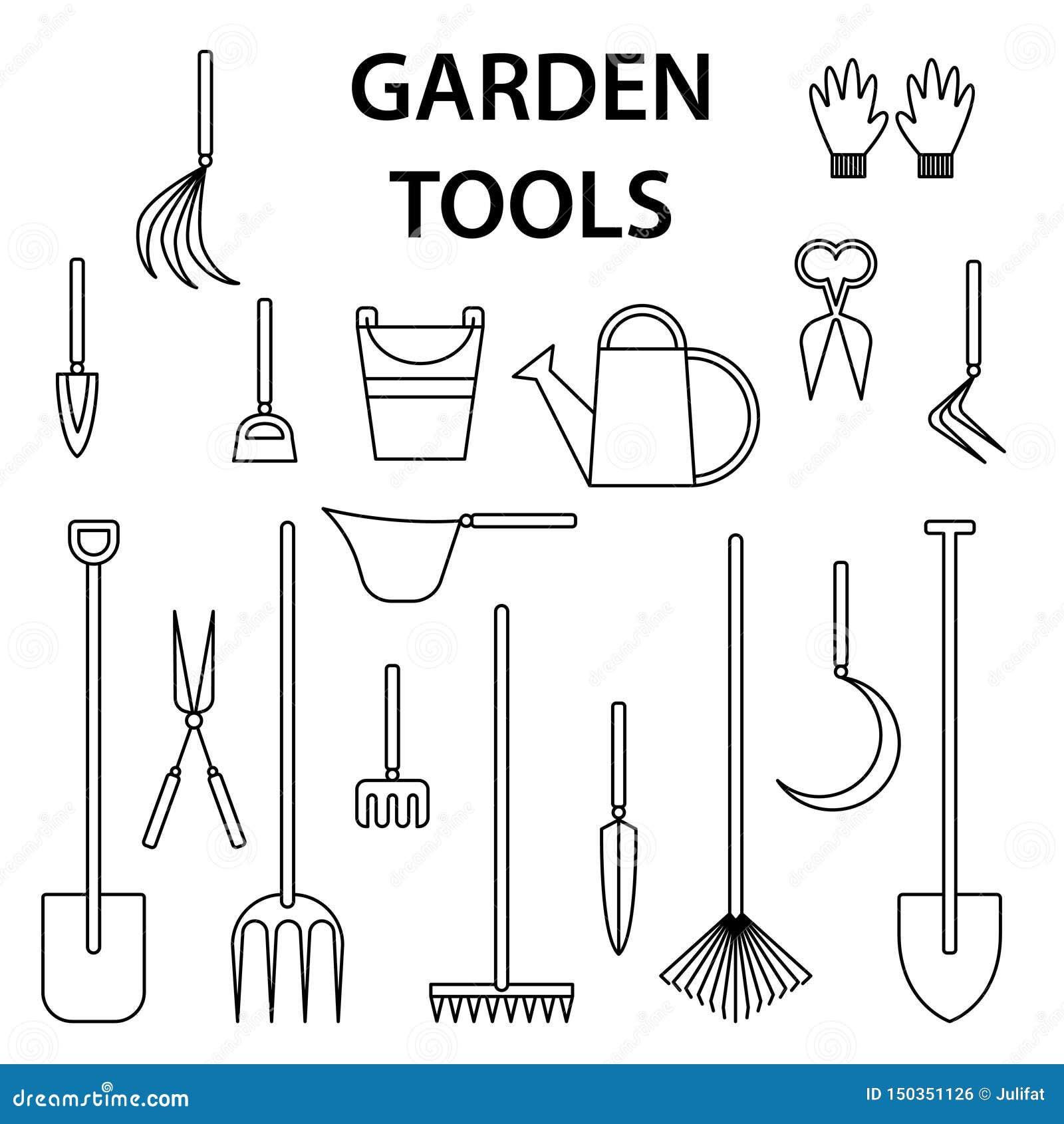 Les Outils De Jardinage Avec Photos outils de jardinage neufs, plateau de canne conception d