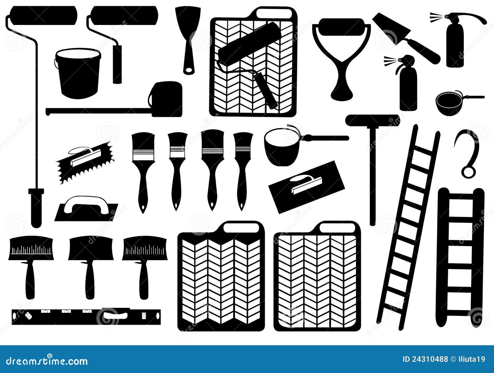 outils de peinture photos libres de droits image 24310488. Black Bedroom Furniture Sets. Home Design Ideas