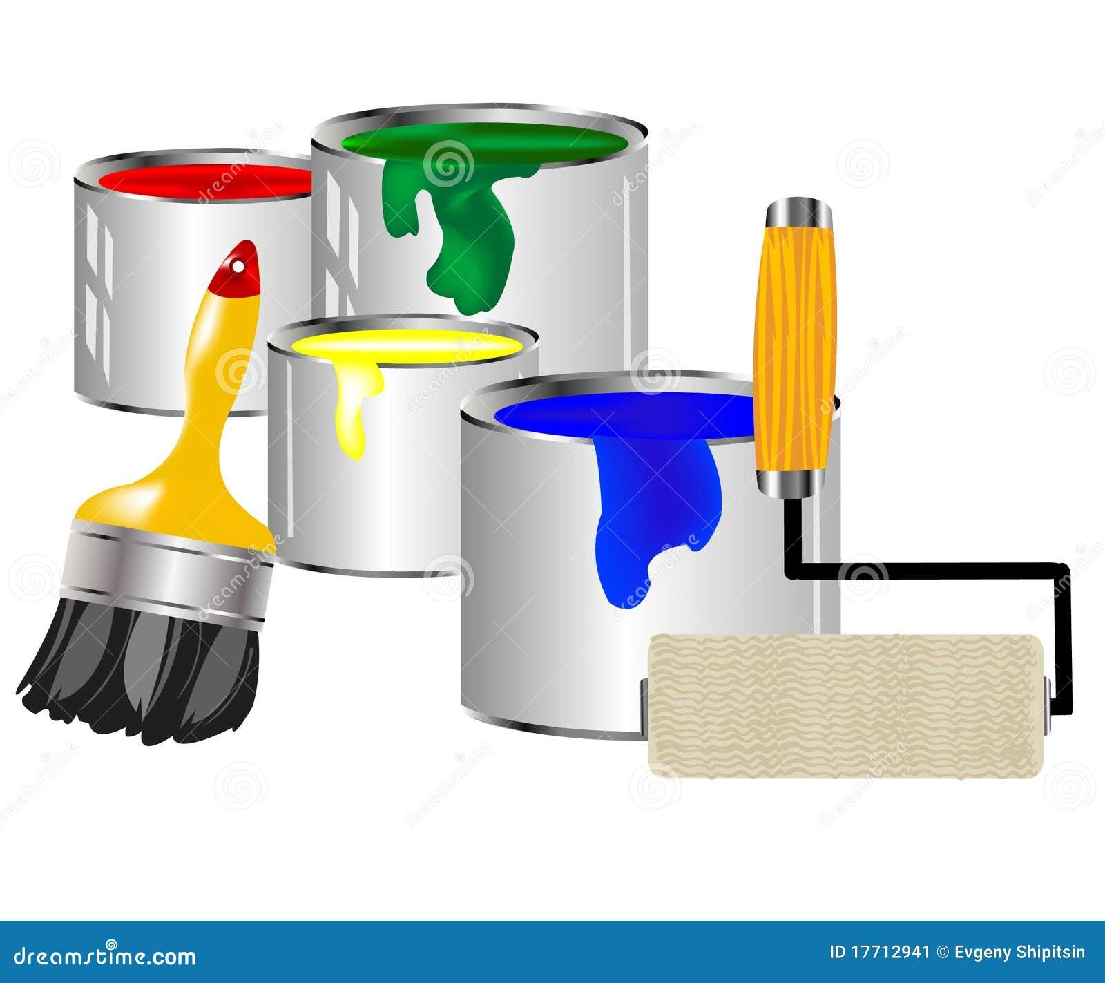 outils de peinture et de peinture image stock image 17712941. Black Bedroom Furniture Sets. Home Design Ideas