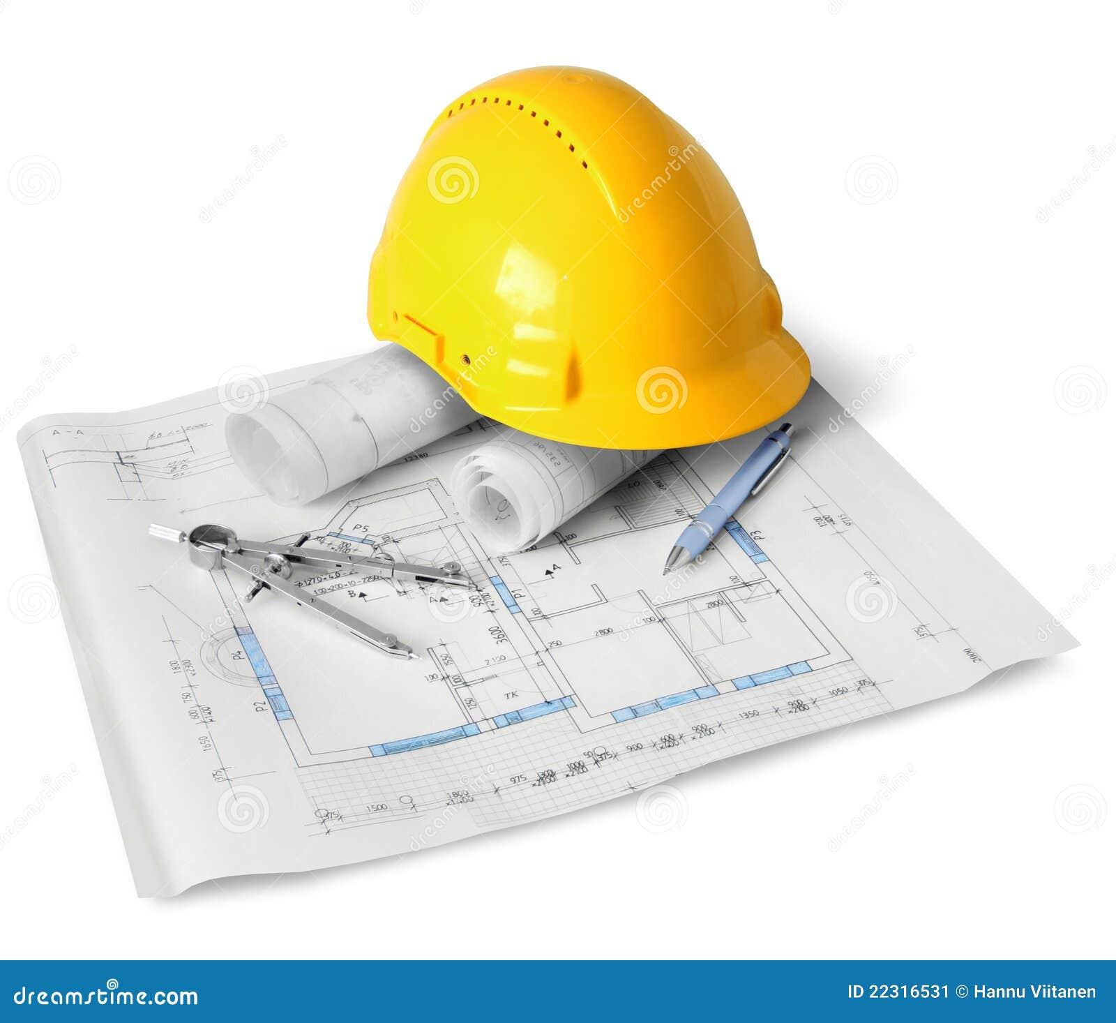 outils de plan de construction image stock image 22316531. Black Bedroom Furniture Sets. Home Design Ideas