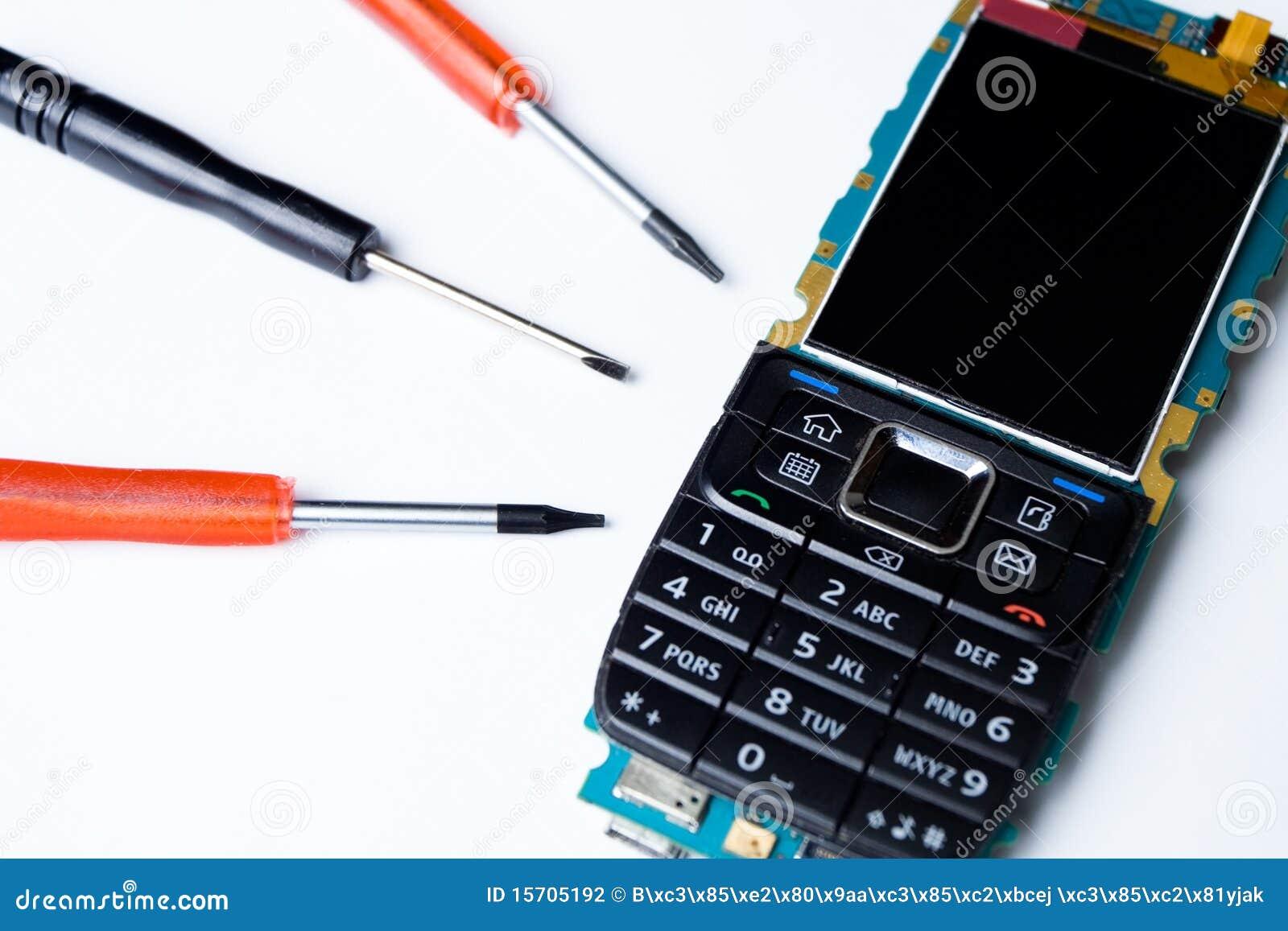Outils de r paration de t l phone portable photographie stock image 15705192 - Reparation telephone plan de campagne ...