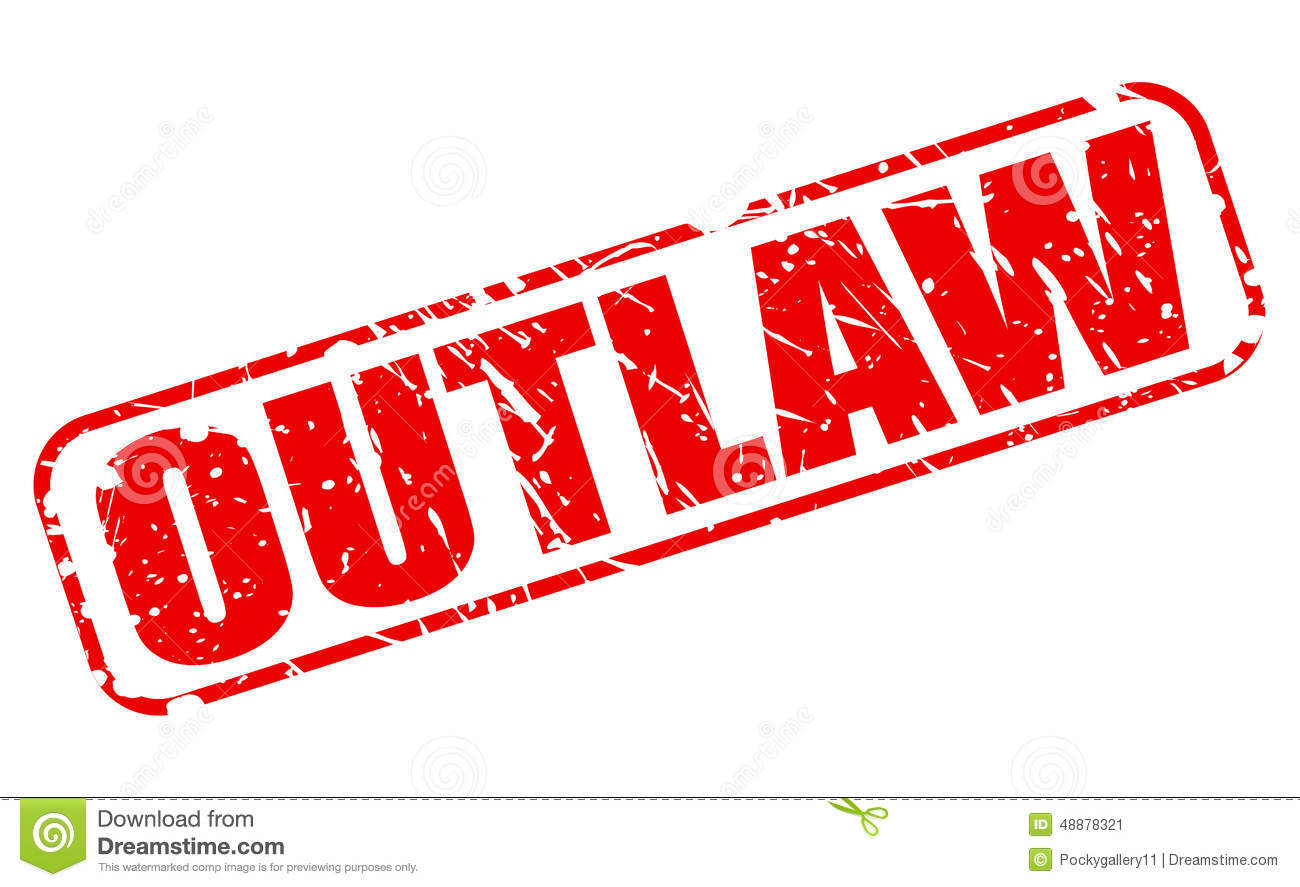 Outlaw Red Stamp Text Stock Vector - Image: 48878321