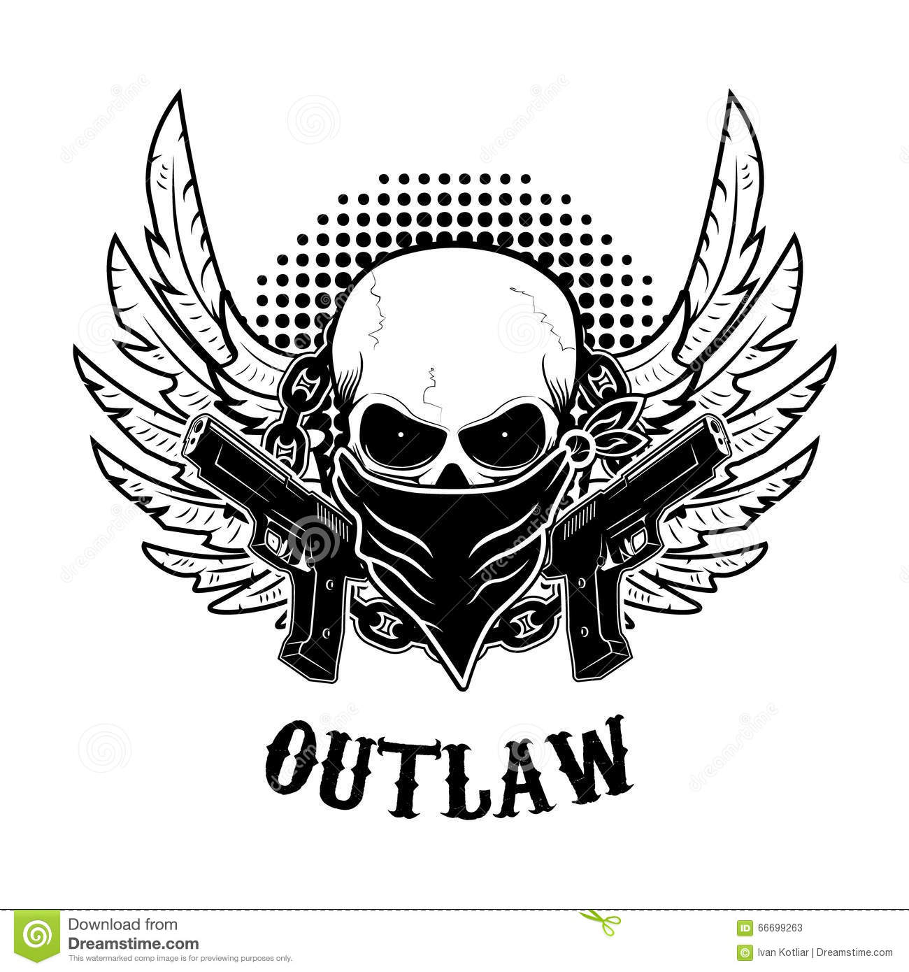 Design t shirt and print - Outlaw