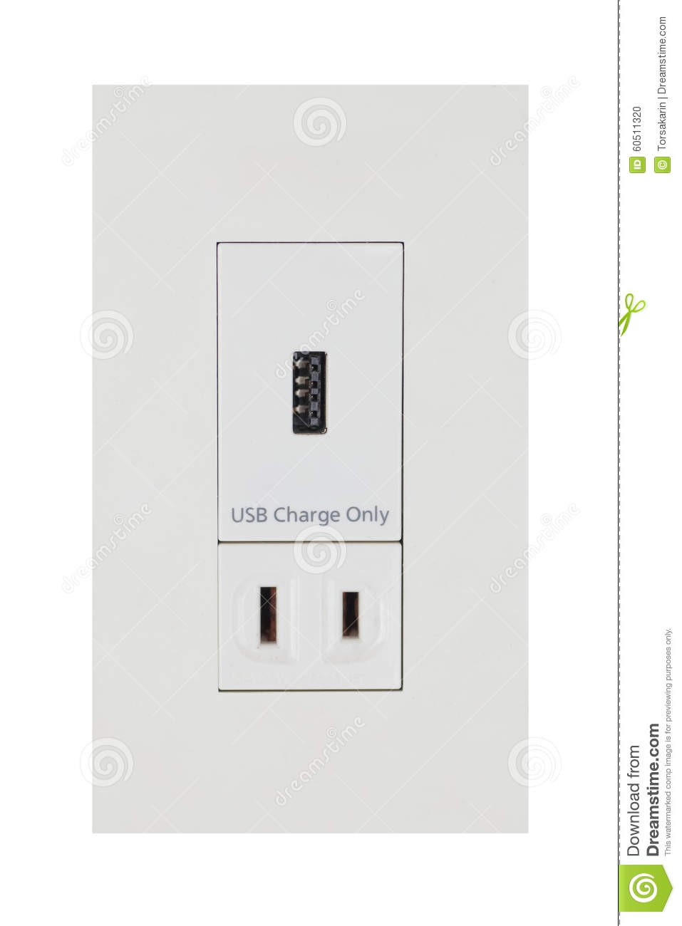 The mobile phone is charging from the outlet vector for Outlet mobile