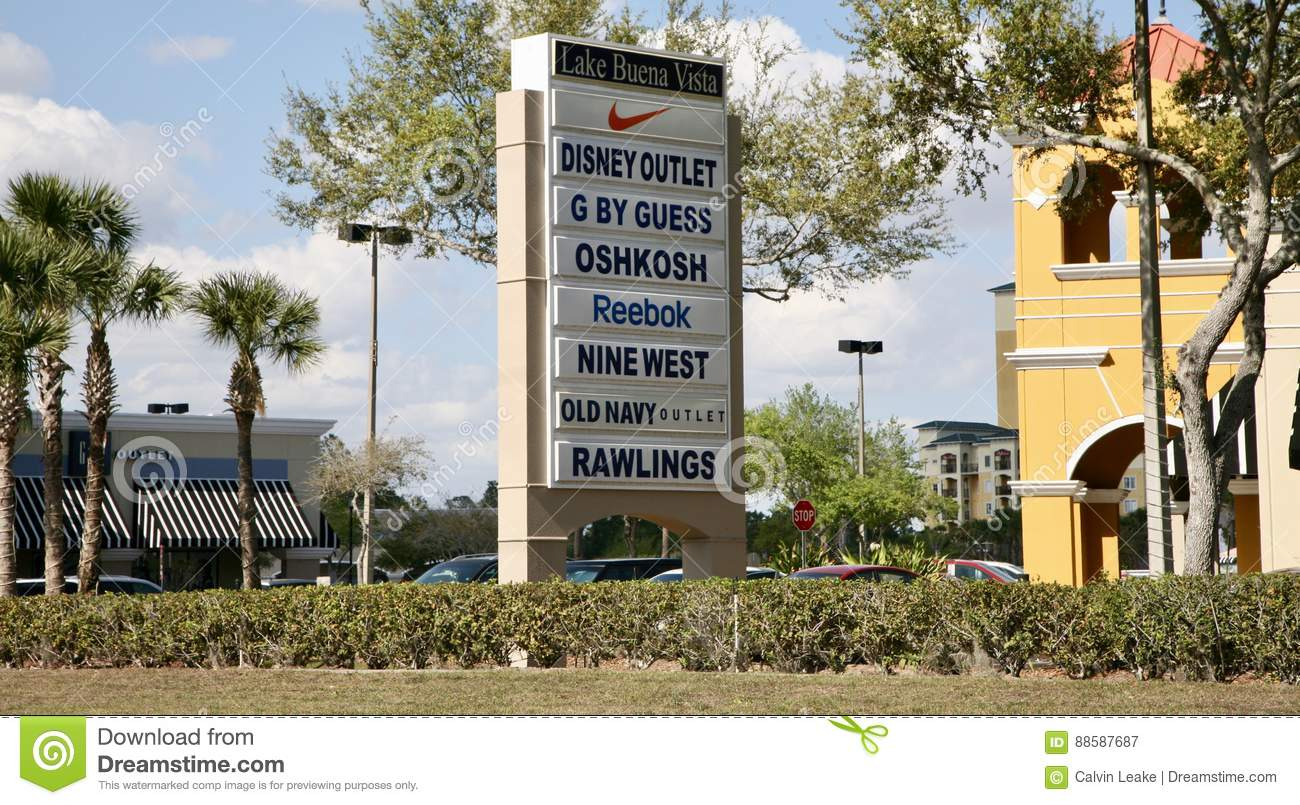 Orlando Shopping Outlets >> Outlet Mall In Orlando Florida Editorial Photography Image Of